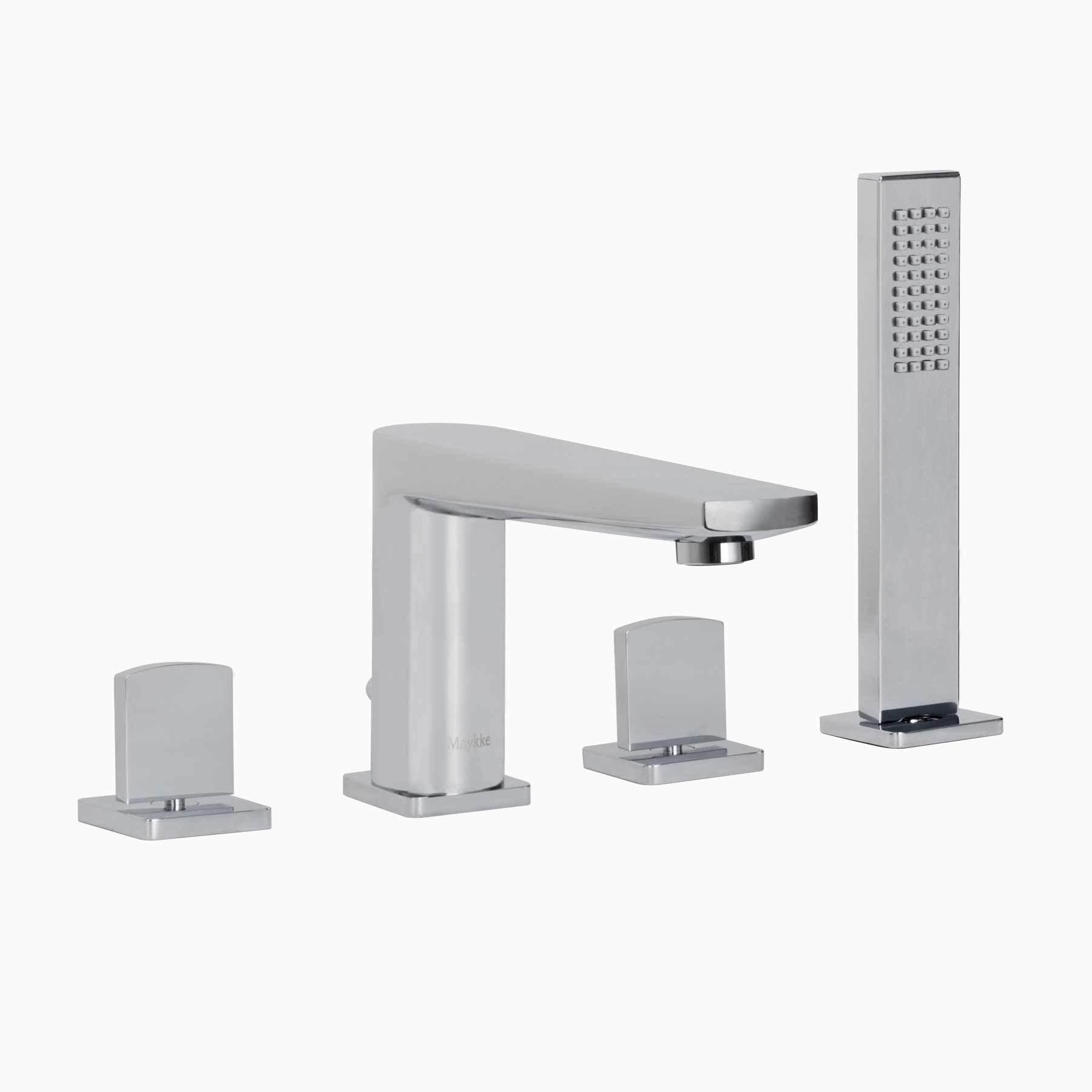 Adalbert Deck Mount Bathtub Faucet With Hand Shower