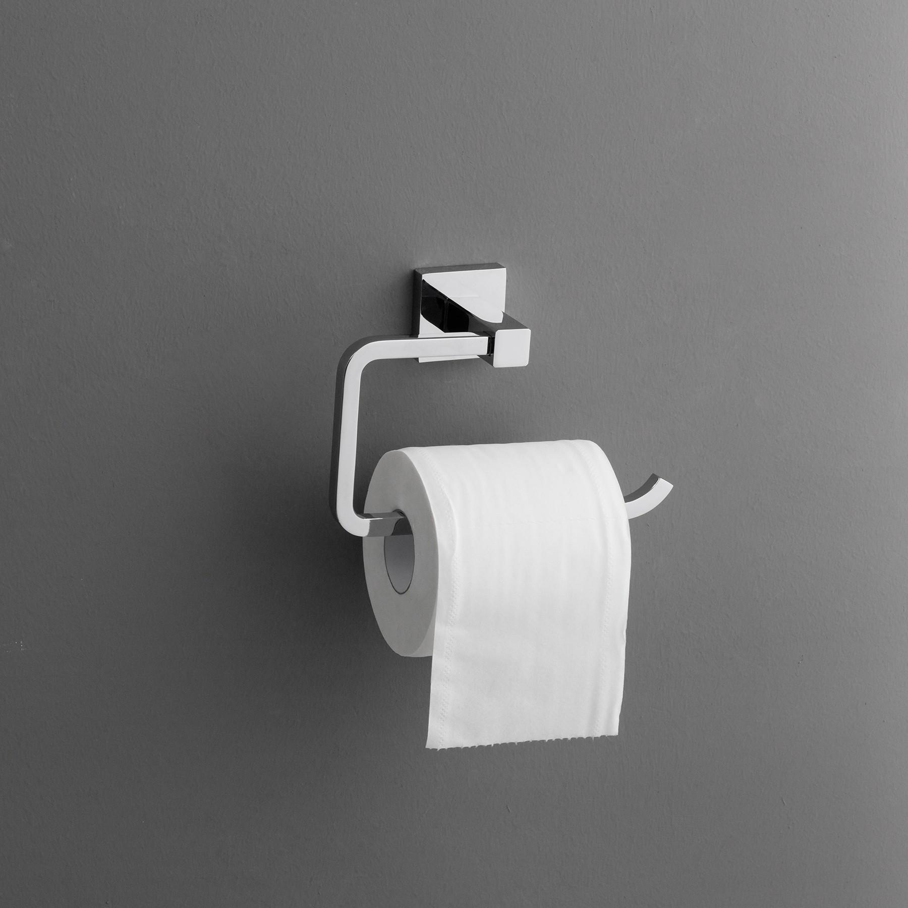 zane toilet paper holder  polished chrome