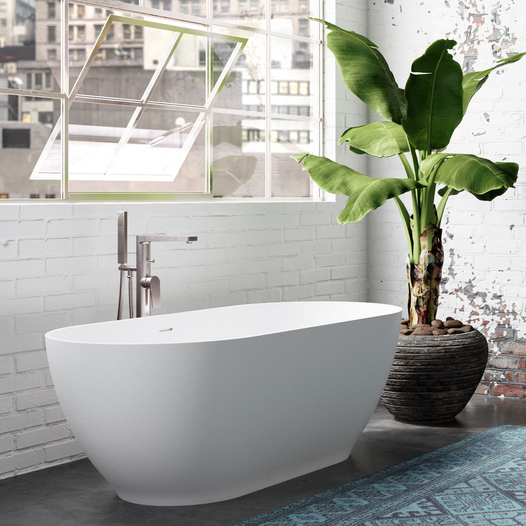 Faro Solid Surface Freestanding Bathtub