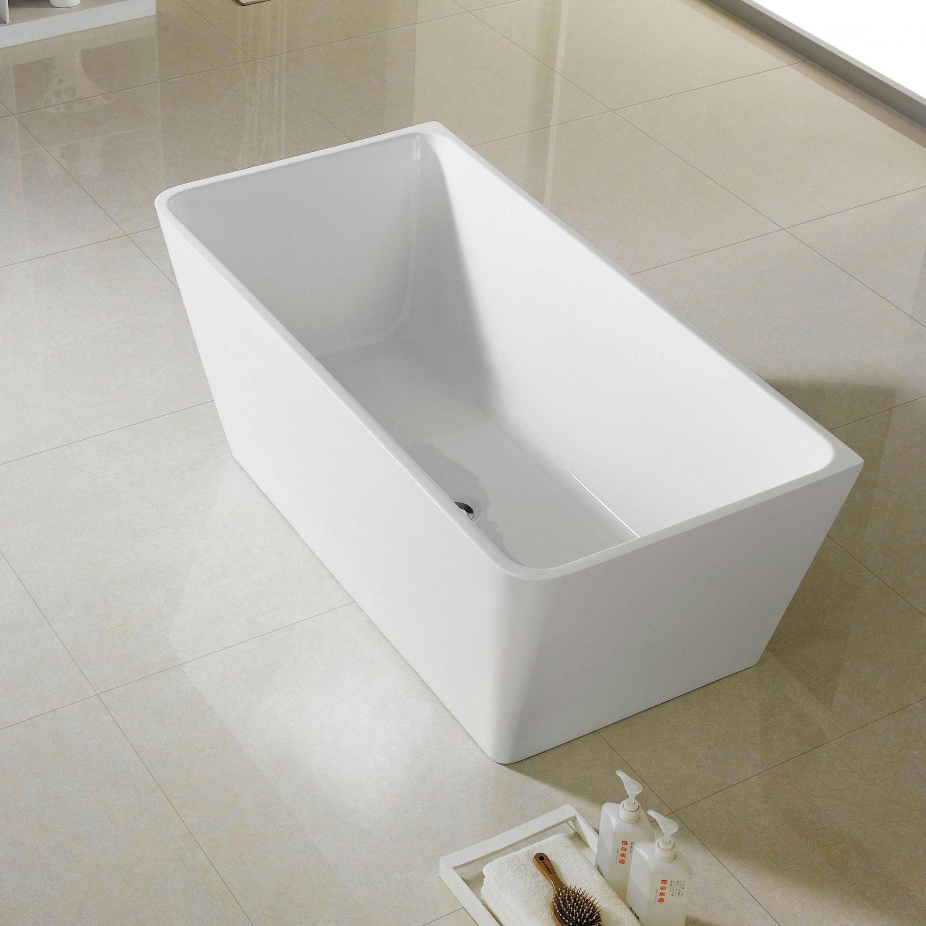 "Bathroom Remodel Burbank: 66"" Burbank Acrylic Freestanding Soaking Bathtub"