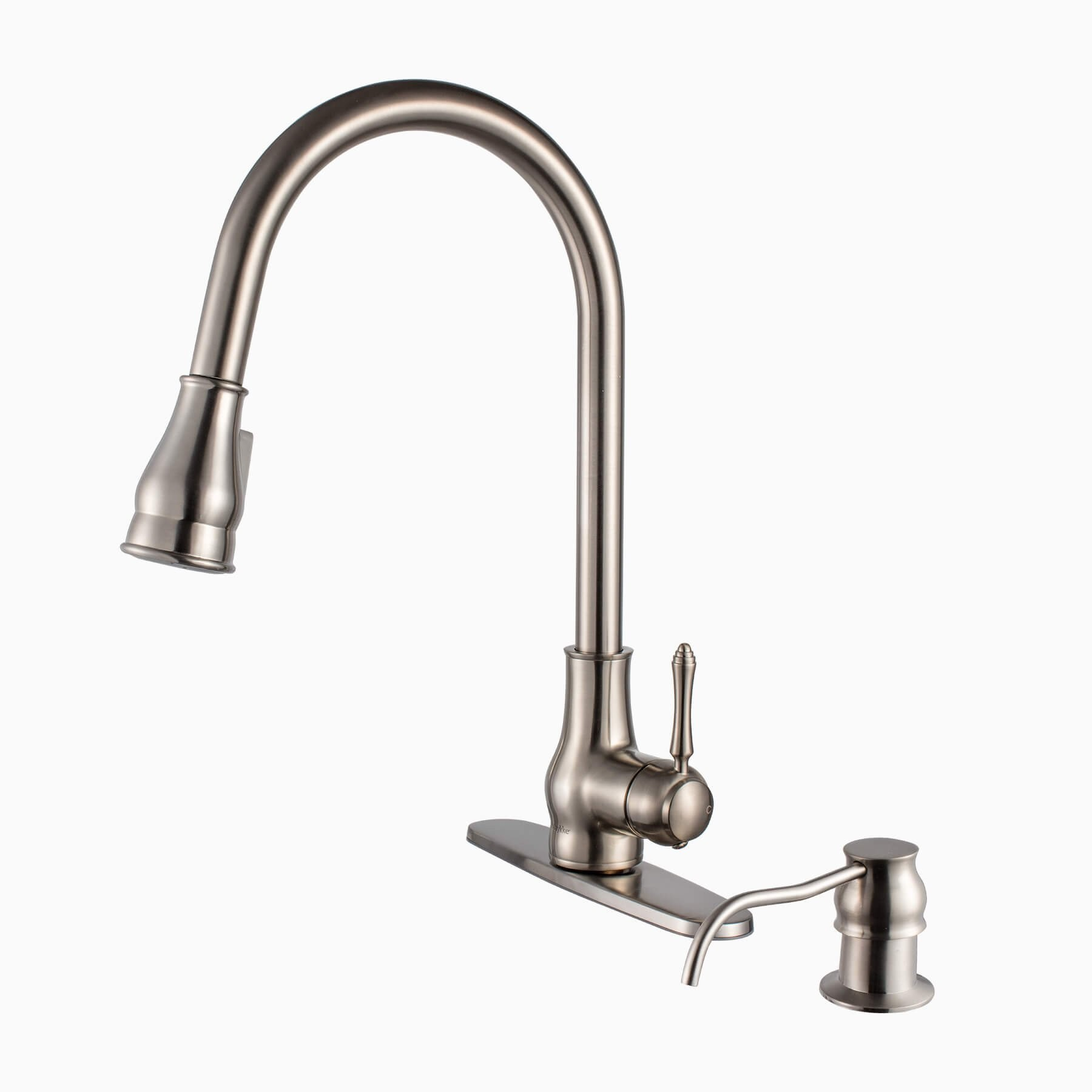 Brixton Br Kitchen Sink Faucet Brushed Nickel Single Hole Handle Lever Traditional