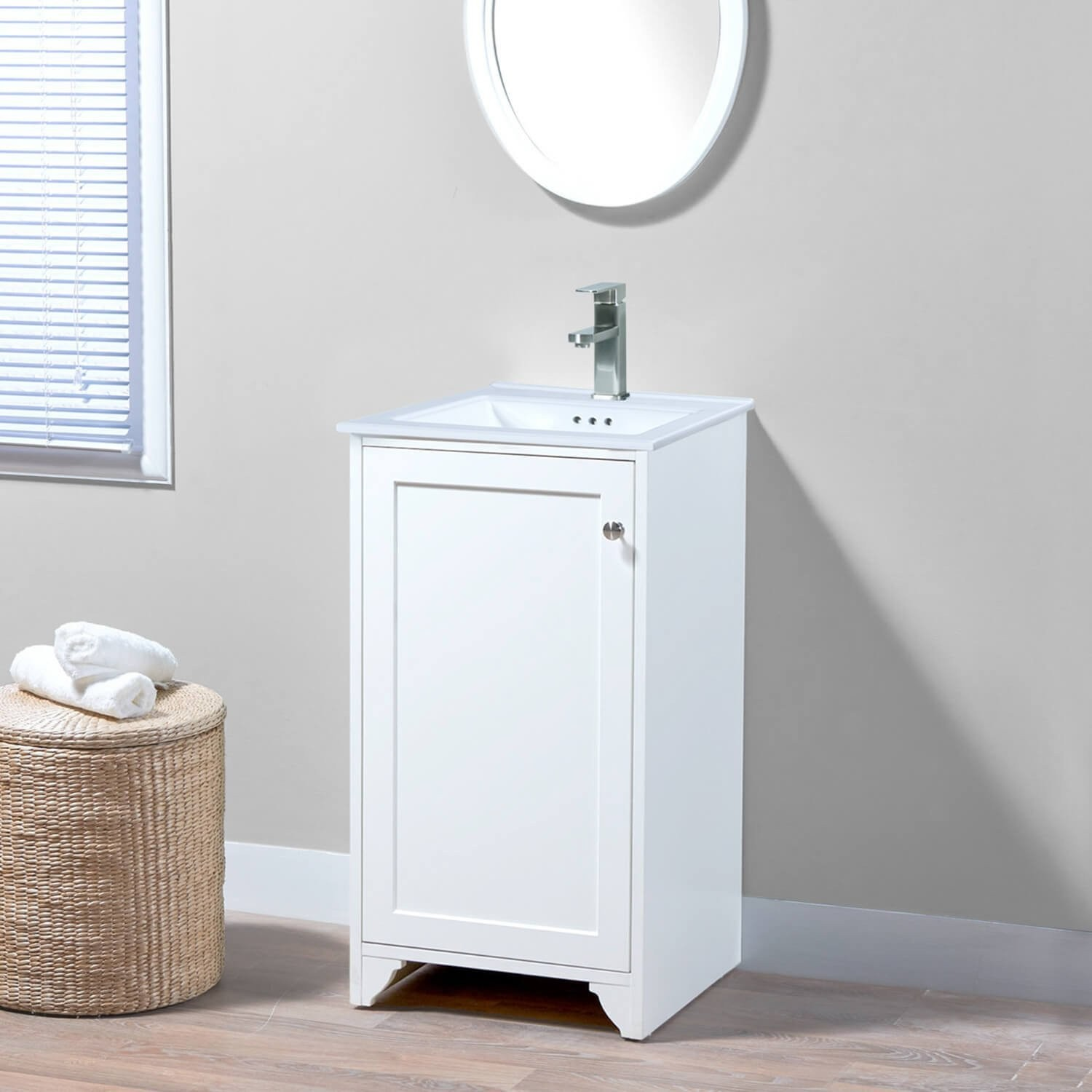 18 wren single sink freestanding bathroom vanity base only without sink and top white for 18 inch white bathroom vanity