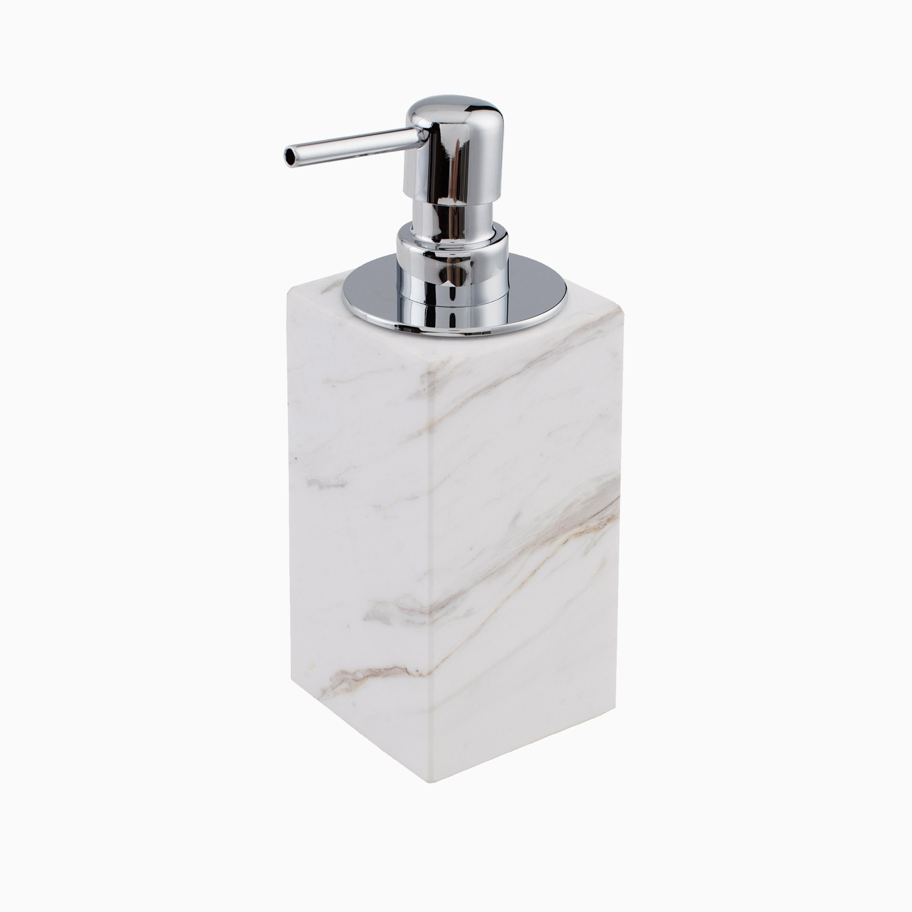 Brax Soap Dispenser With Pump White Marble