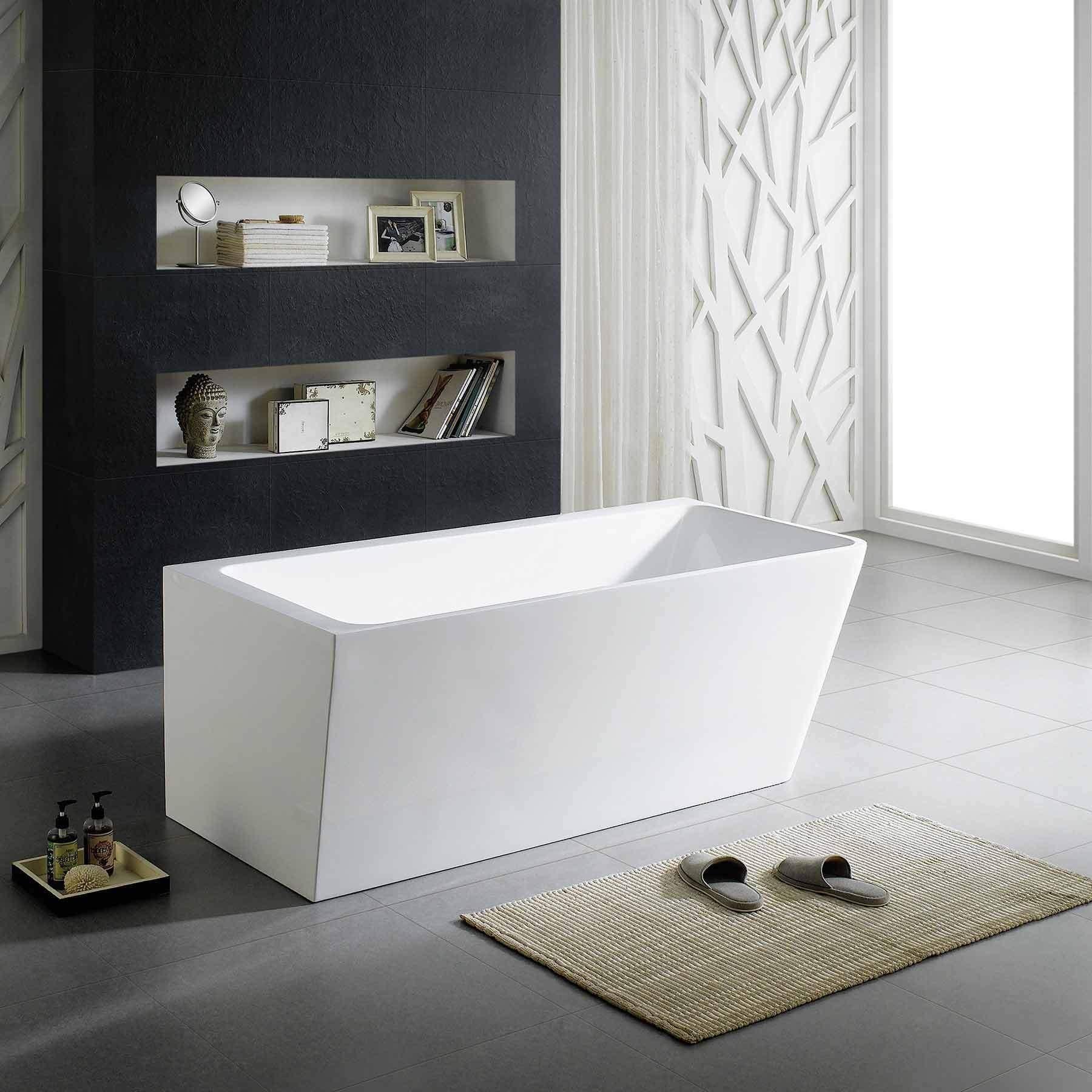 67 vigo acrylic freestanding bathtub modern rectangle - First outlet vigo ...
