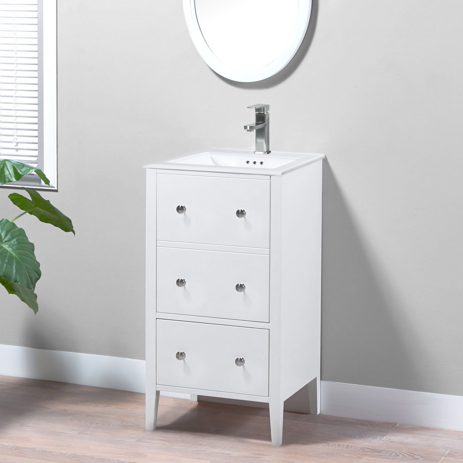 18 addison single sink freestanding bathroom vanity base only without sink and top white for 18 inch white bathroom vanity