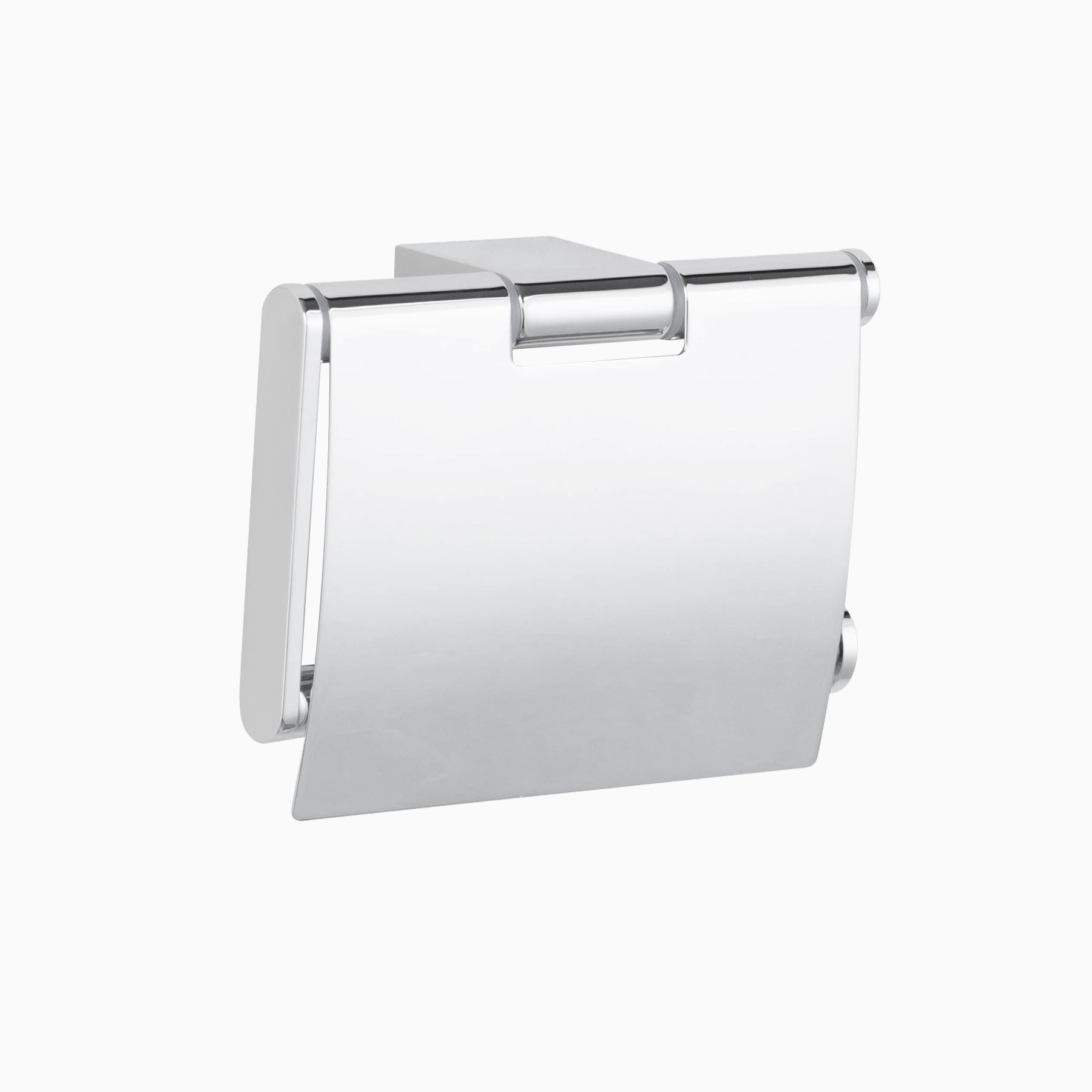 Mission Wall Mounted Toilet Paper Roll Holder With Cover Polished Chrome