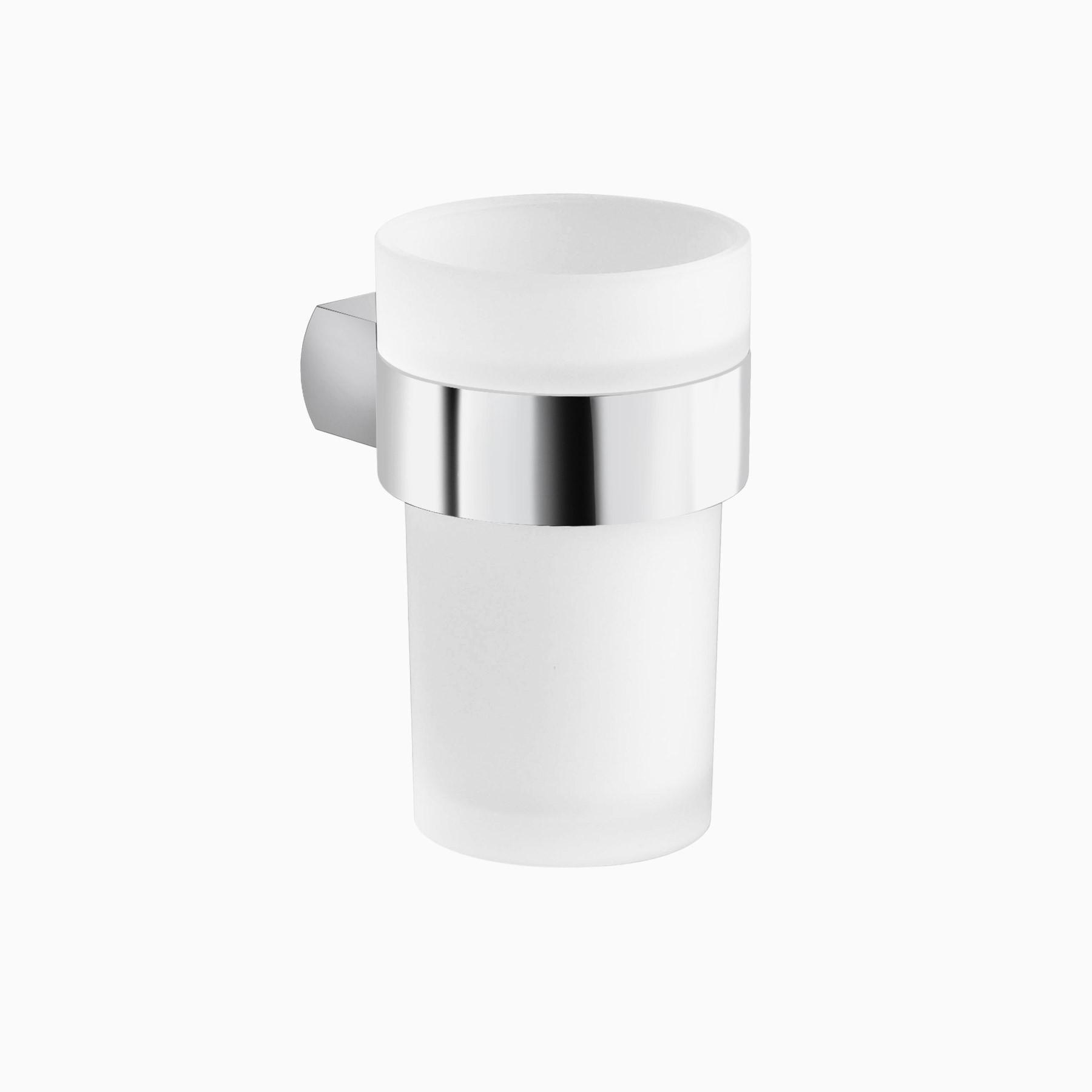 noe valley wall mounted bathroom tumbler holder polished chrome - Bathroom Tumbler