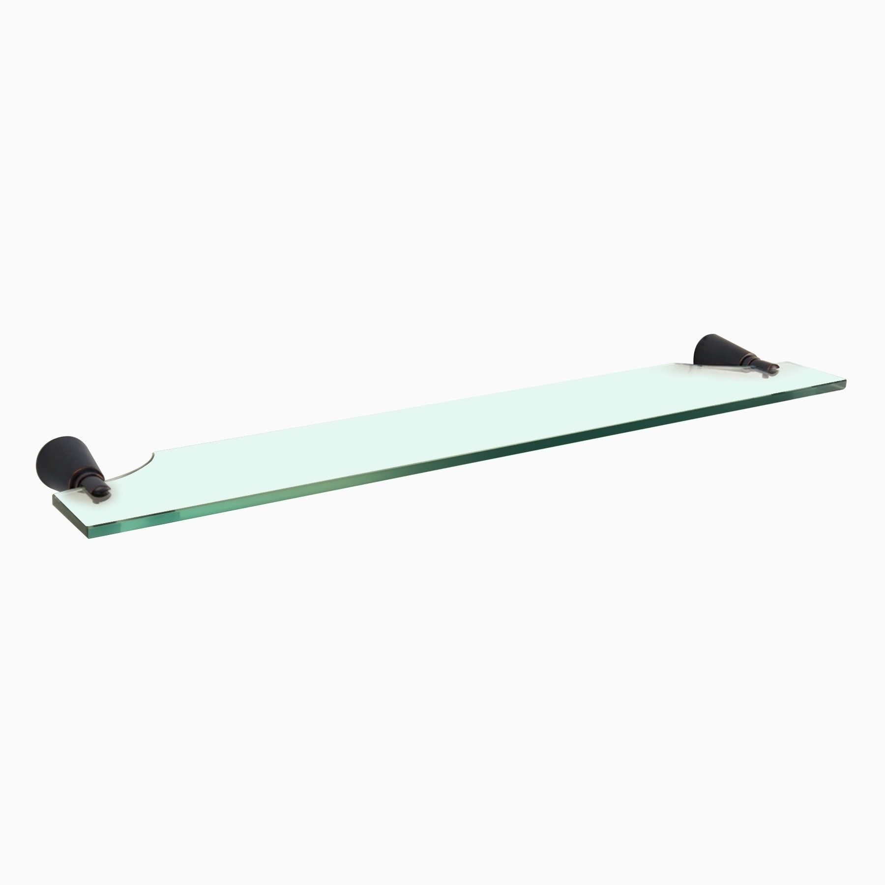 Soma Glass Shelf, Oil-Rubbed Bronze - Wall Mounted Glass Bathroom ...