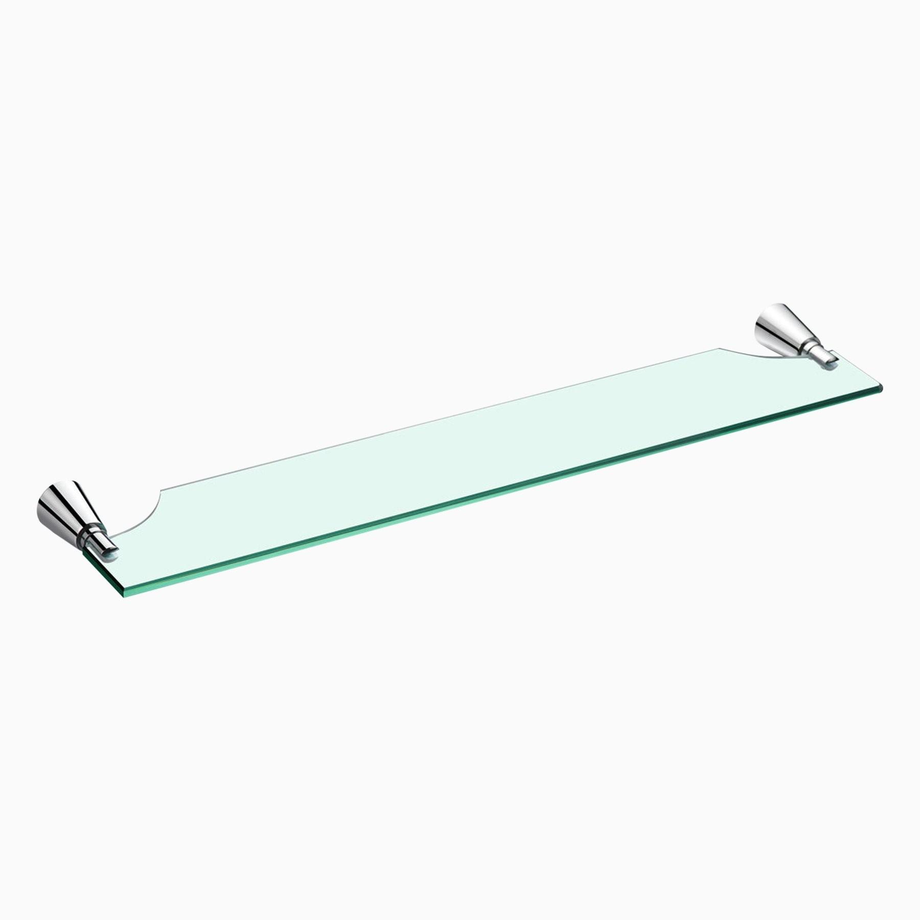 Soma Glass Shelf - Wall Mounted Glass Bathroom Shelving
