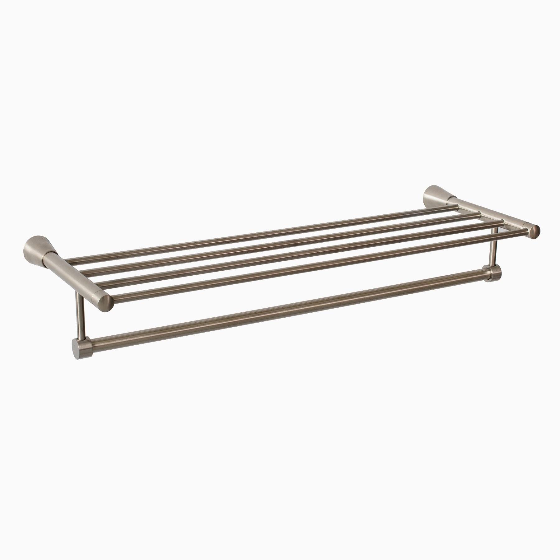 Soma Brass Wall Mounted Towel Rack Brushed Nickel Modern 24 58