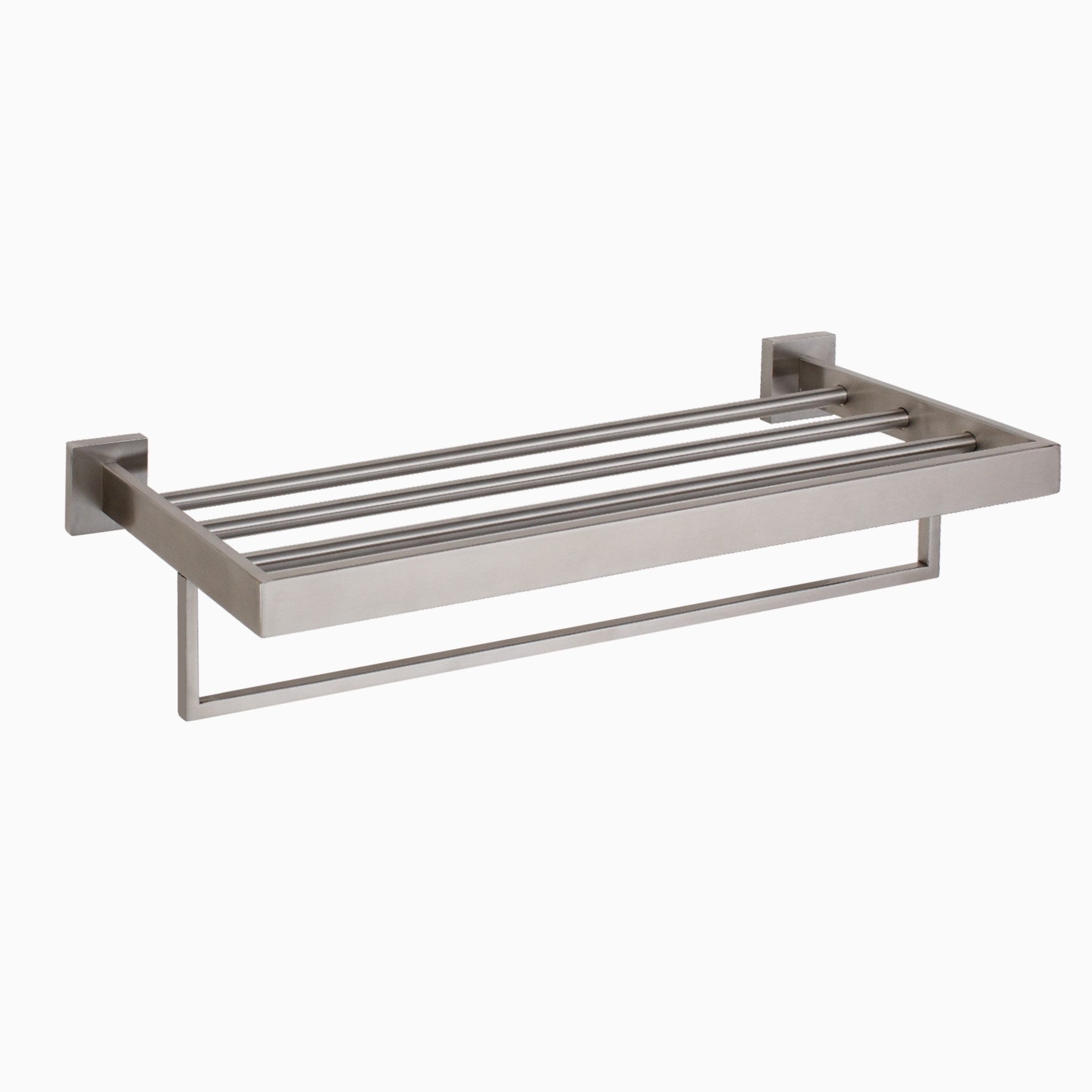 TriBeCa Stainless Steel Wall Mounted Towel Rack, Brushed Nickel ...
