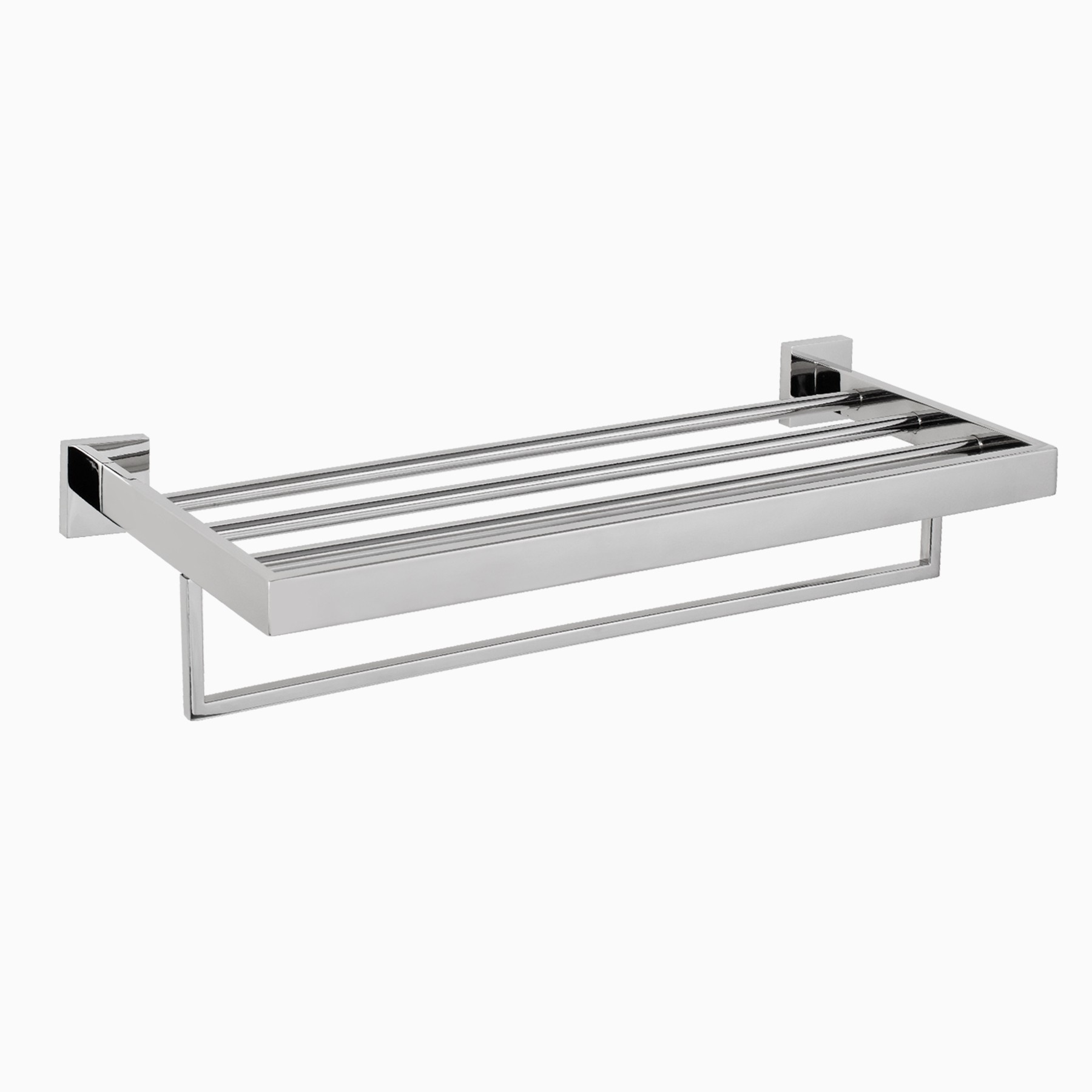TriBeCa Stainless Steel Wall Mounted Towel Rack, Modern, 23-5/8\