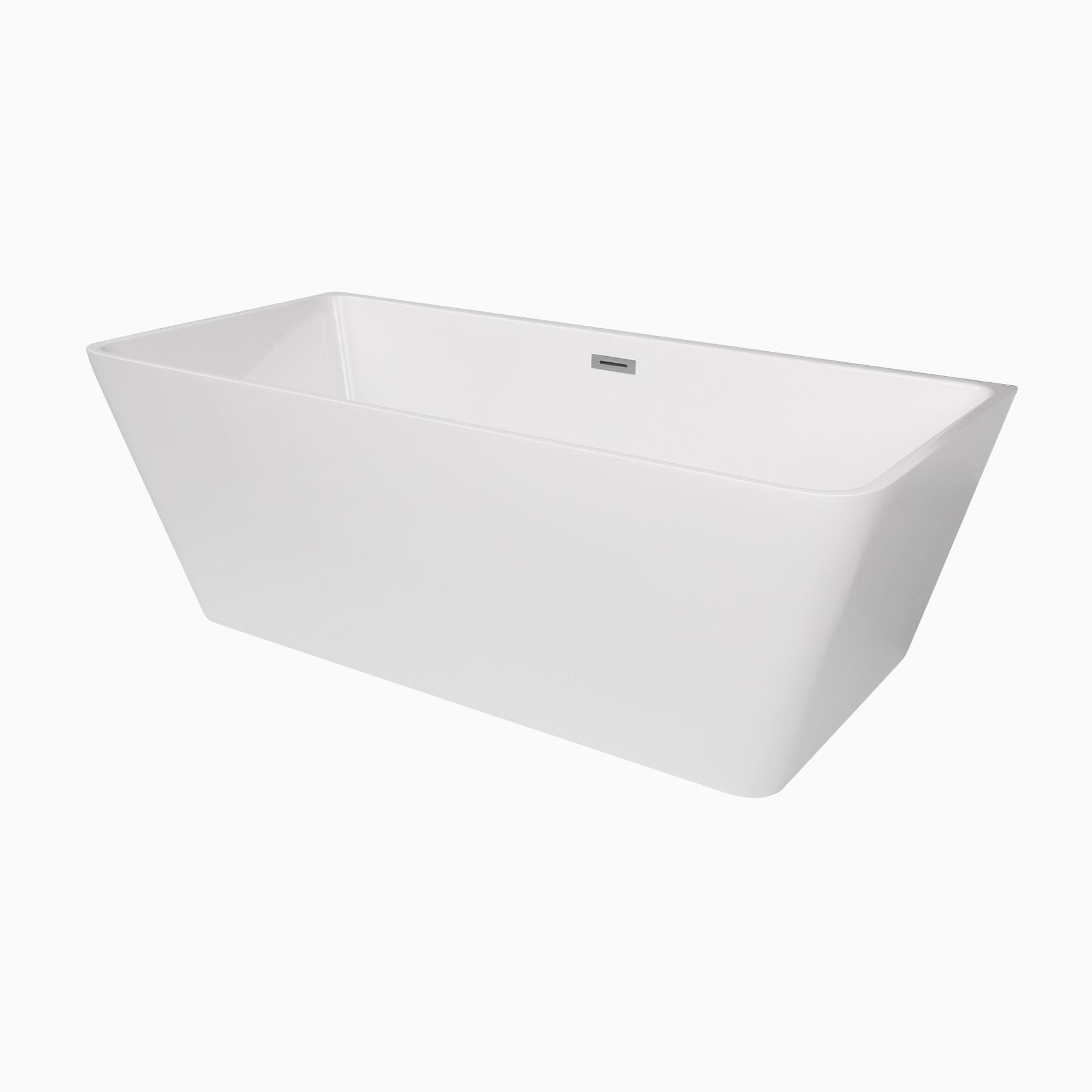 """Bathroom Remodel Burbank: 66"""" Burbank Acrylic Freestanding Bathtub, Modern Tub"""