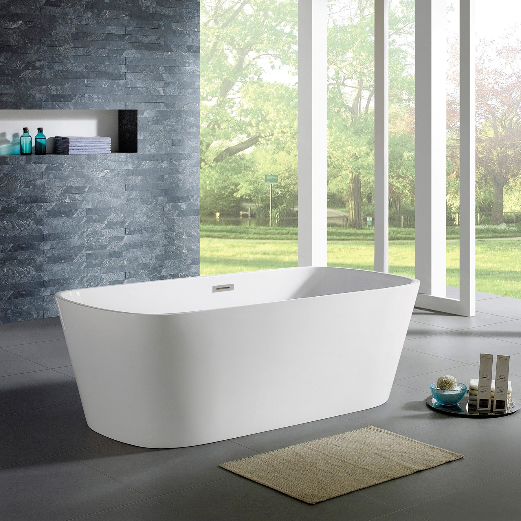 bty w norris standing rectangle free acrylic white bathtub tub freestanding modern bath