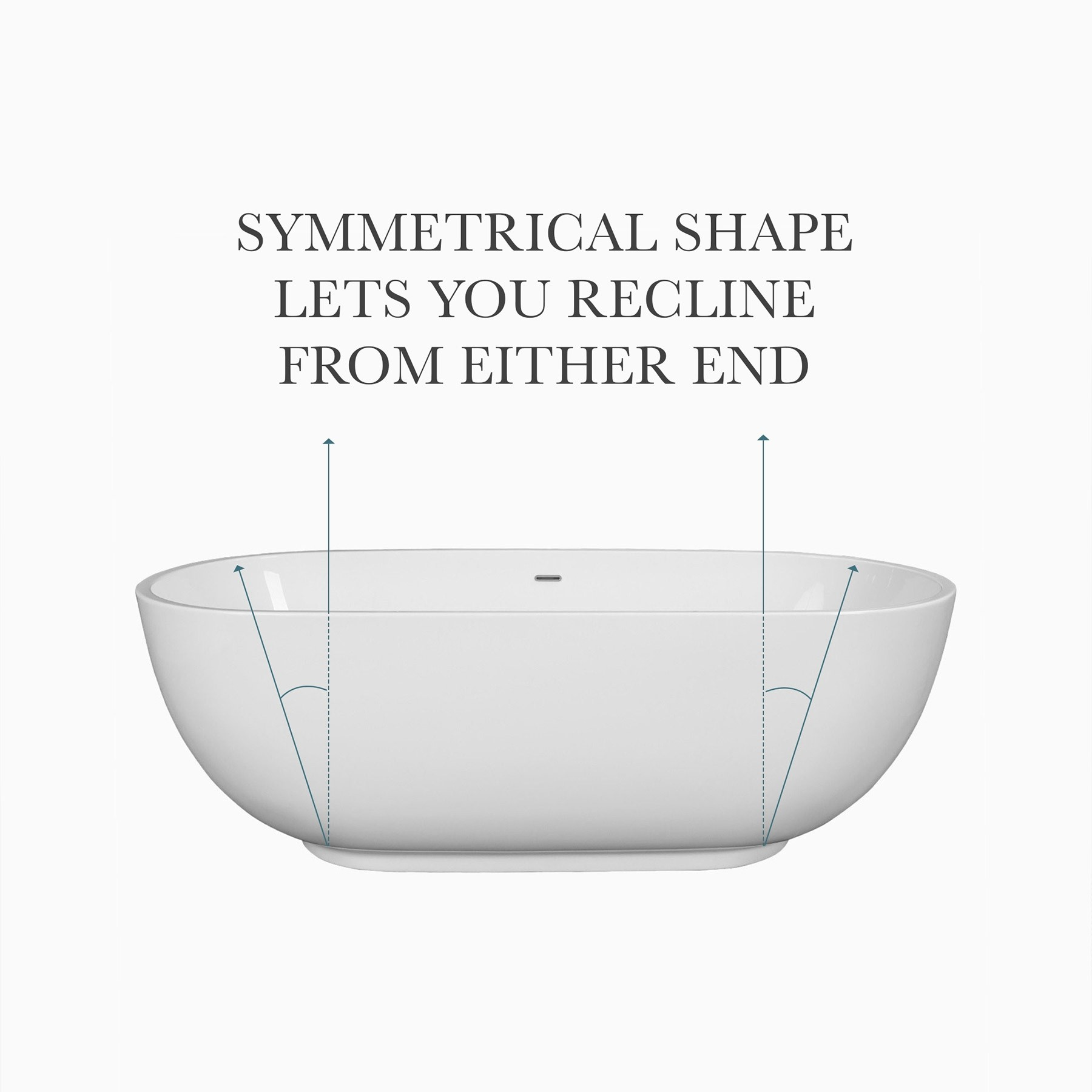 "71"" Clara Acrylic Freestanding Bathtub, Transitional Oval"
