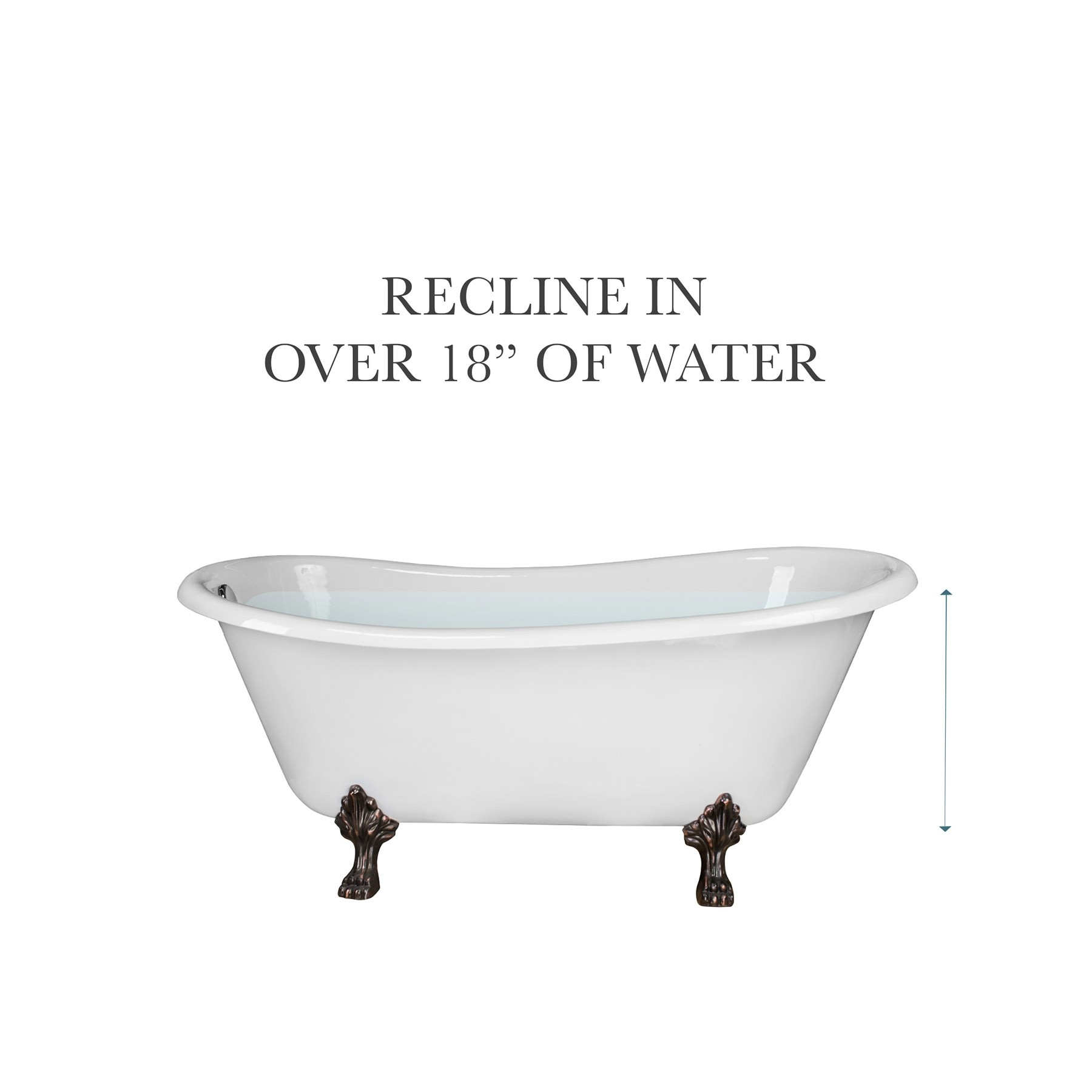 "67"" Doris Cast Iron Freestanding Clawfoot Bathtub, Lion"