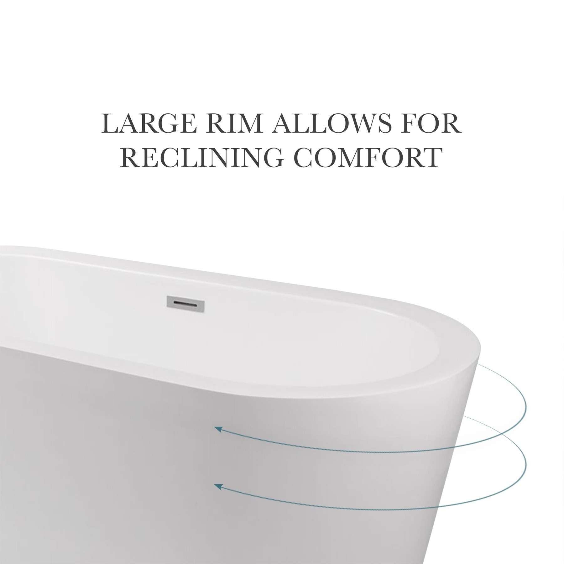 "67"" Harrow Acrylic Freestanding Bathtub, Modern Oval Tub"