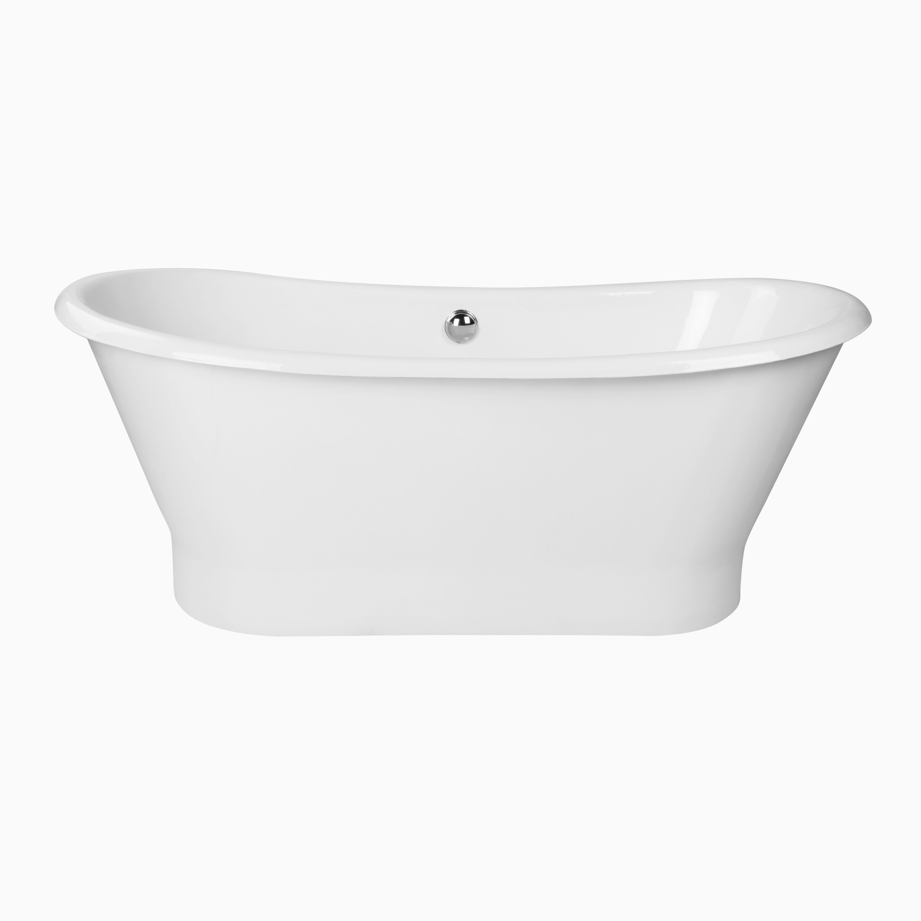 70  Montebello Freestanding Bathtub Cast Iron Transitional Oval Tub