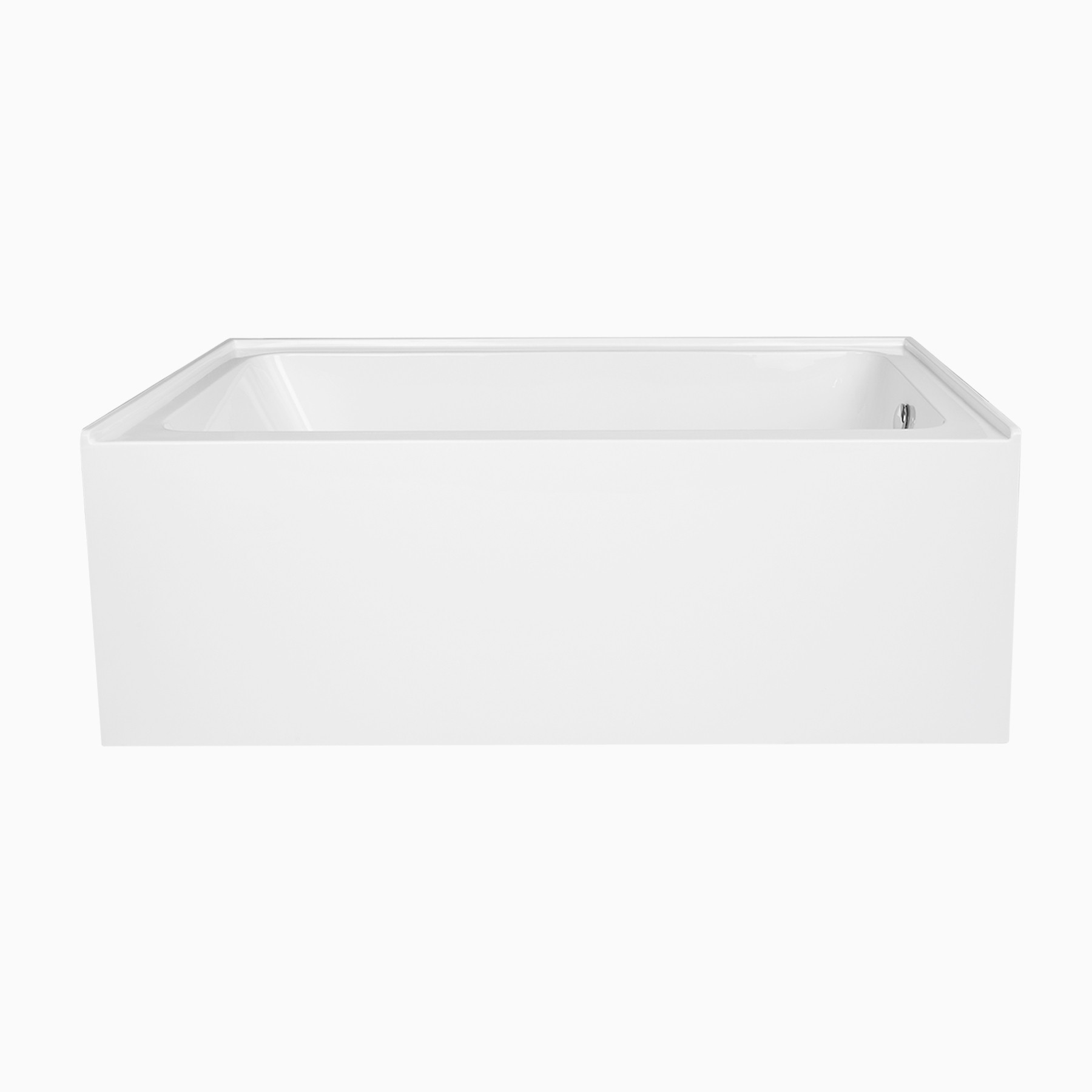 60 pensacola acrylic alcove bathtub modern rectangle tub for Alcove bathtub dimensions