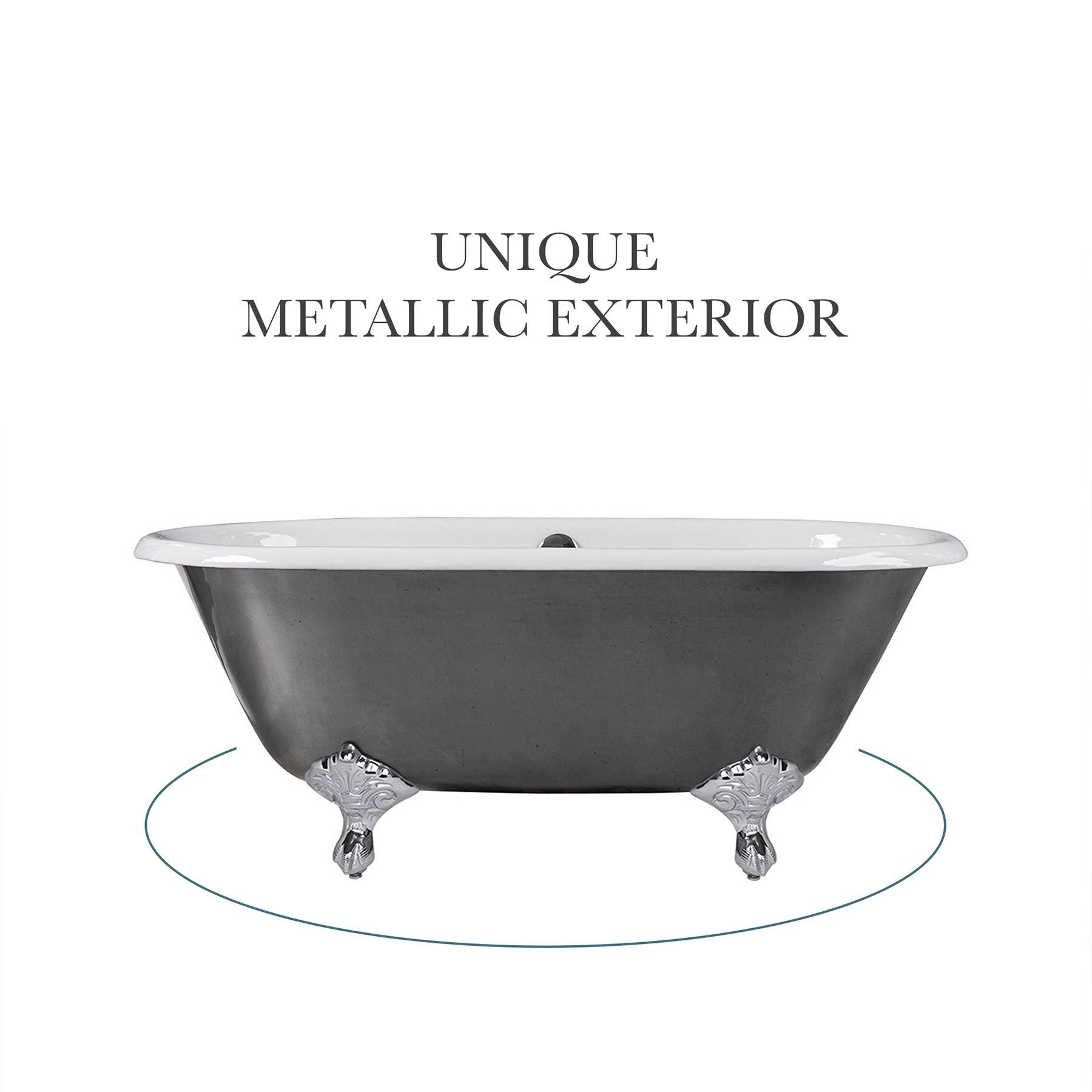 "60"" Rosa Cast Iron Clawfoot Bathtub"