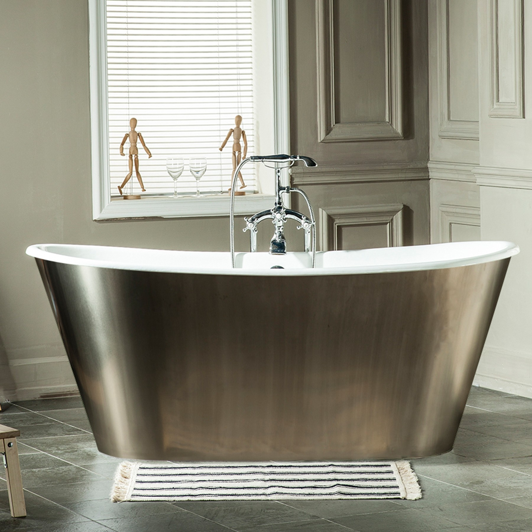 67 woodward deep soaking cast iron tub