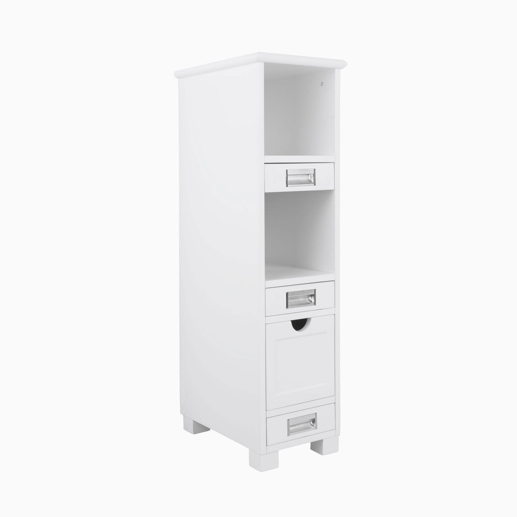 12 Inch Burton Floor Cabinet in White - Bathroom Cabinet