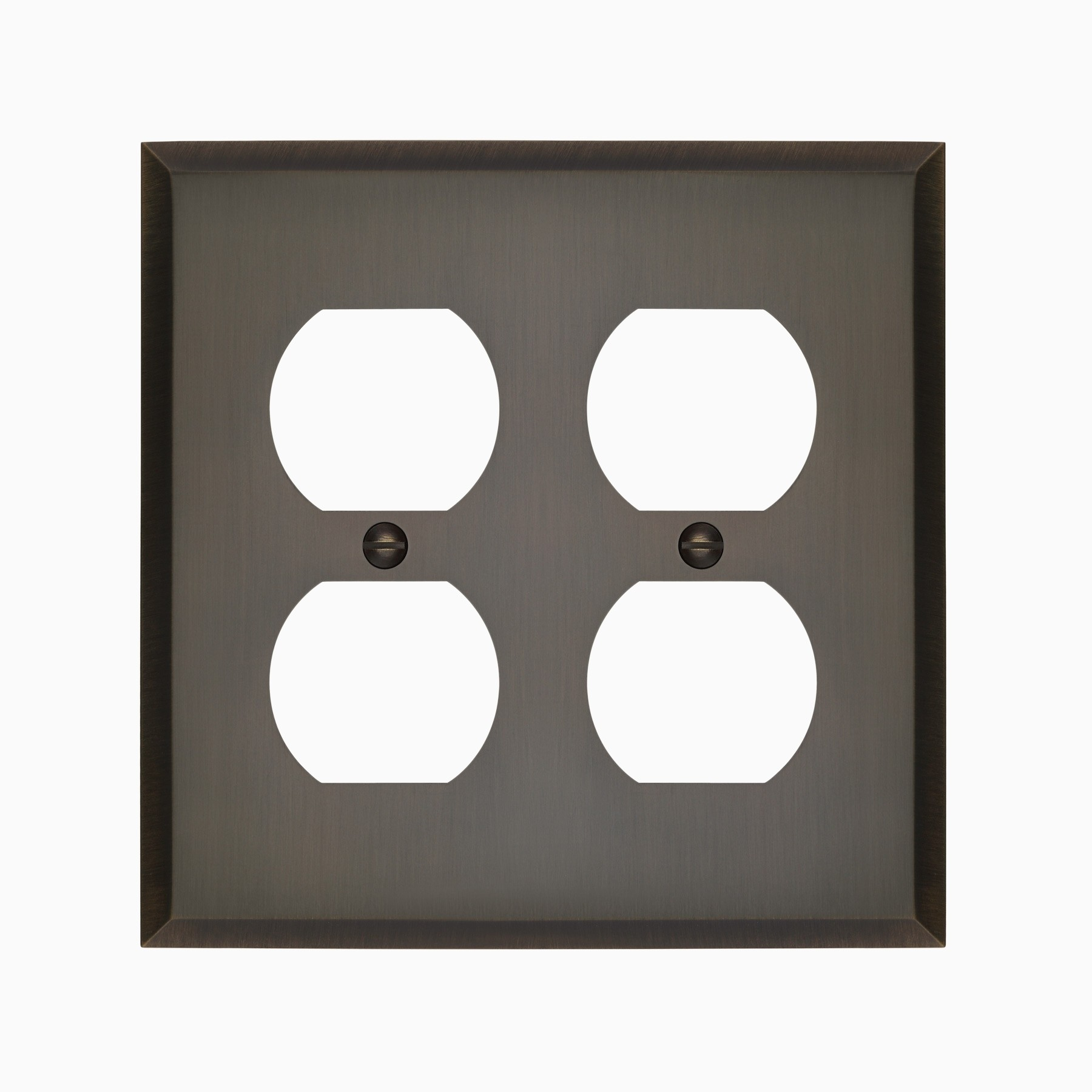 Graham Double Duplex Outlet Cover Wall Mounted Electrical Switch Plate