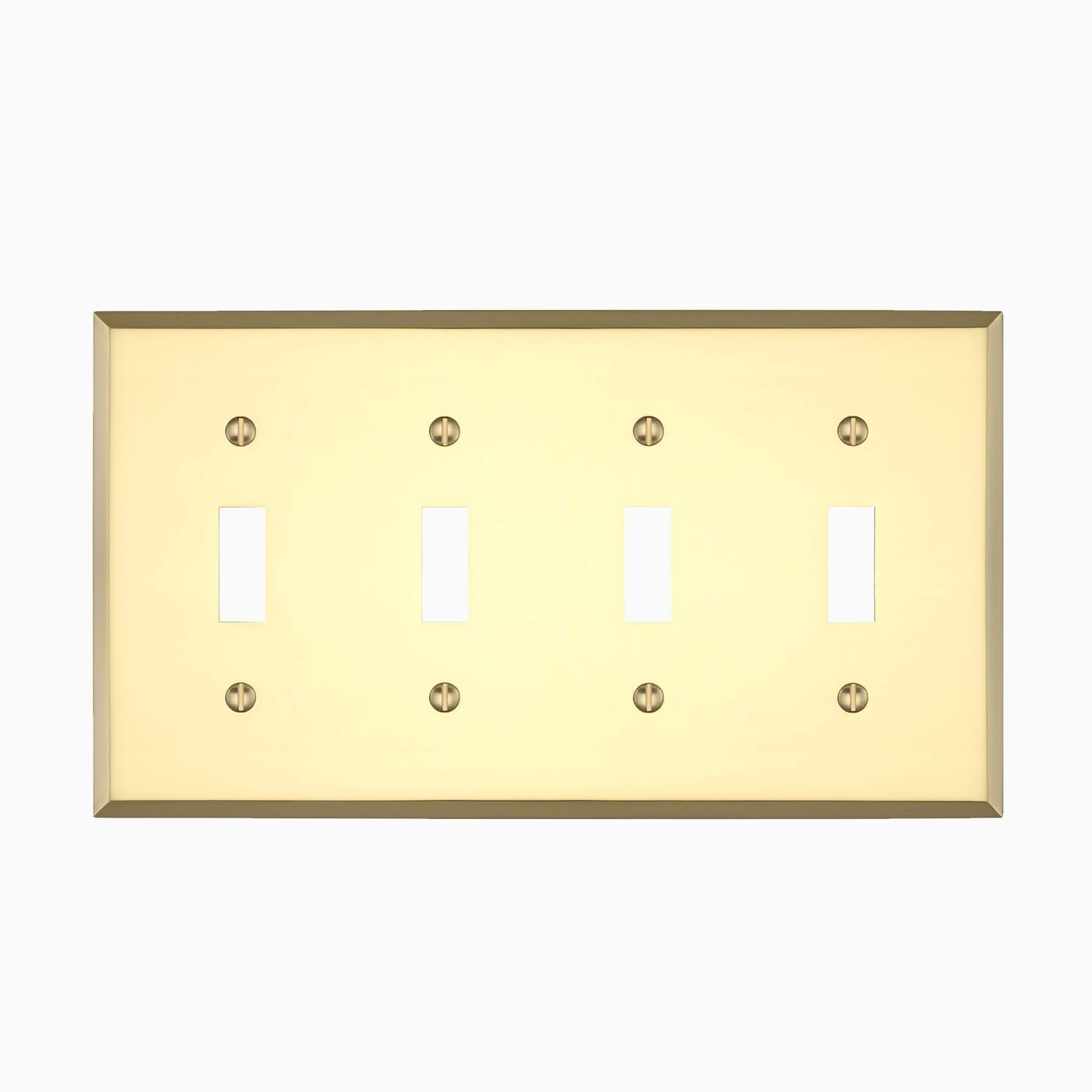 Graham Quad Light Switch Cover - Wall Mounted Electrical Switch Plate