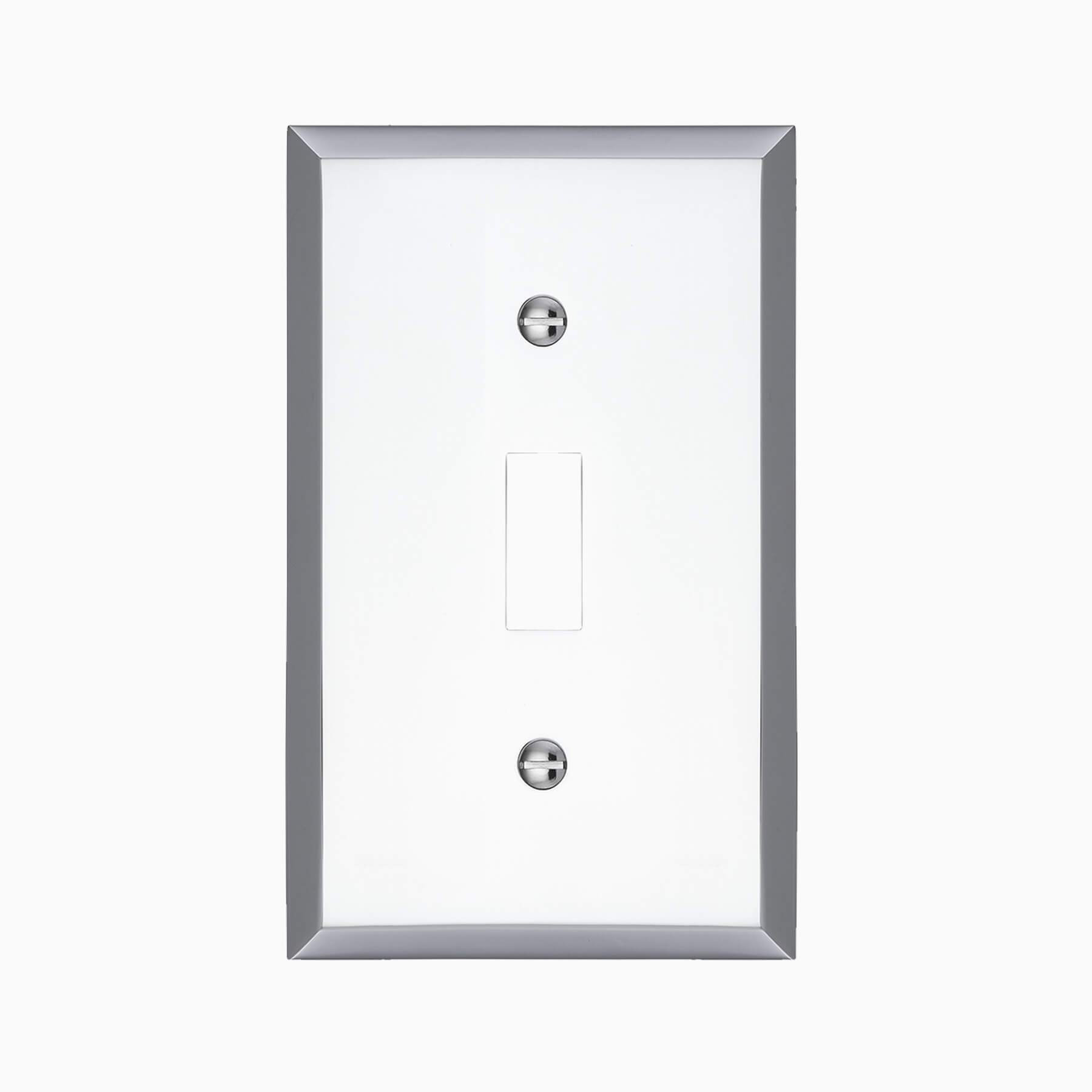 Graham Single Light Switch Cover Polished Chrome Wall