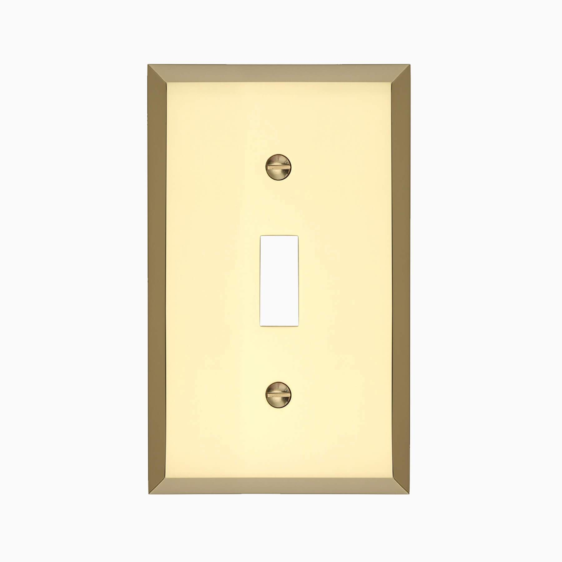 Graham Single Light Switch Cover Polished Brass Wall Mounted Electrical Switch Plate