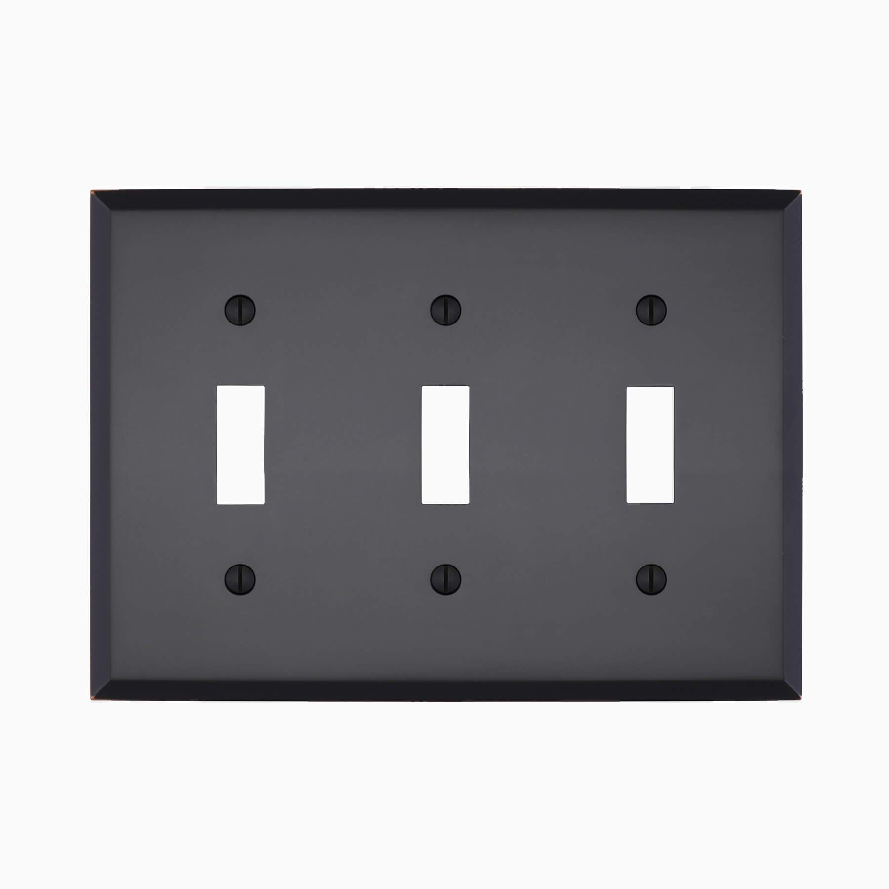 Graham Triple Light Switch Cover Wall Mounted Electrical