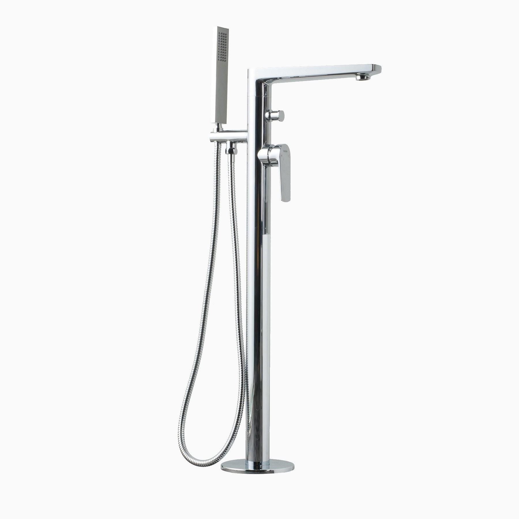 Adalbert Freestanding Single Lever Bathtub Faucet, Polished Chrome