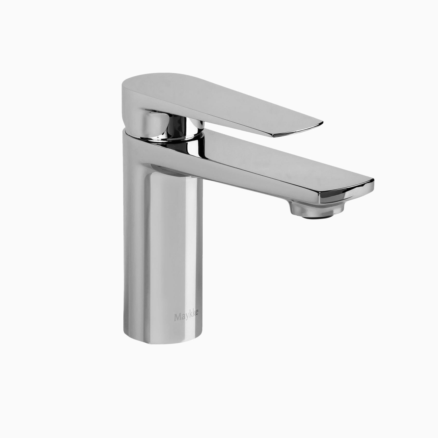 Adalbert brass bathroom sink faucet polished chrome single hole single handle lever modern for Polished chrome bathroom countertop accessories