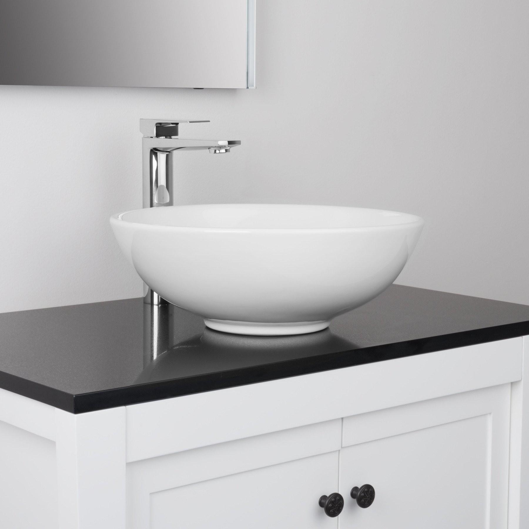 Adalbert Brass Bathroom Vessel Sink Faucet, Single Hole, Single ...