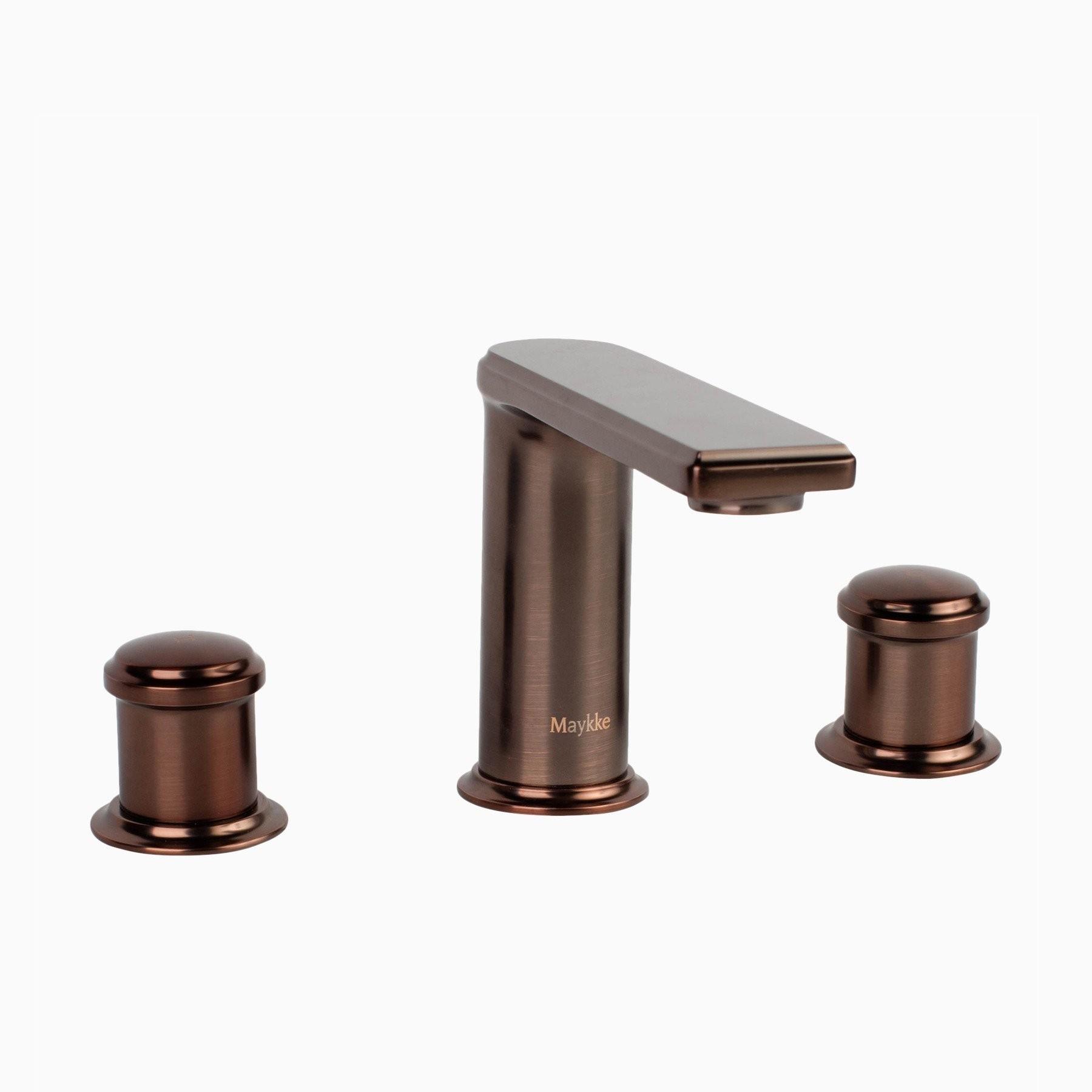 Arminius Brass Bathroom Sink Faucet, 8 inch Widespread, 3 Hole, 2 ...