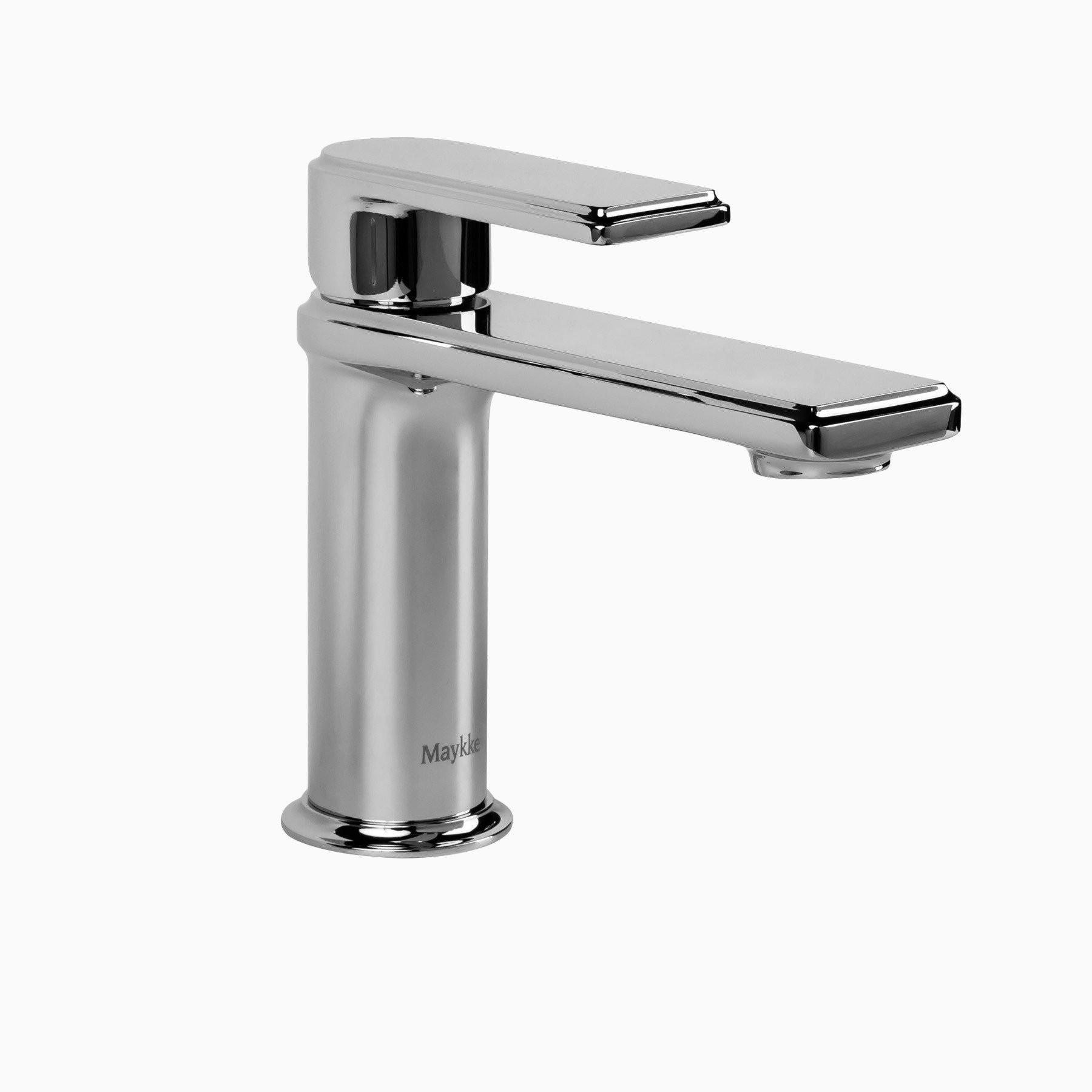Arminius Brass Bathroom Sink Faucet Polished Chrome Single Hole Single Handle Lever Modern