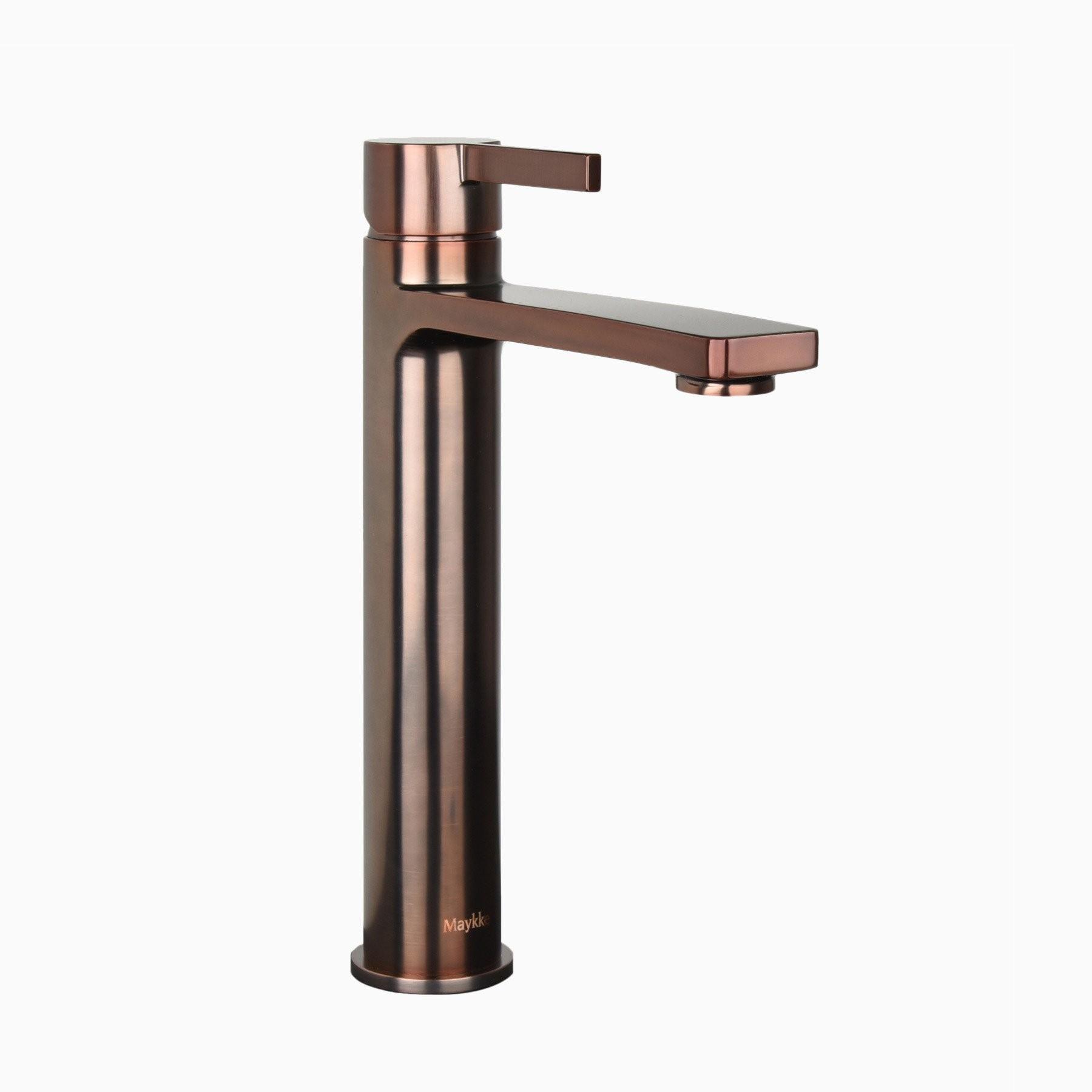 Friedrich Brass Bathroom Vessel Sink Faucet Single Hole Single Handle Lever Modern