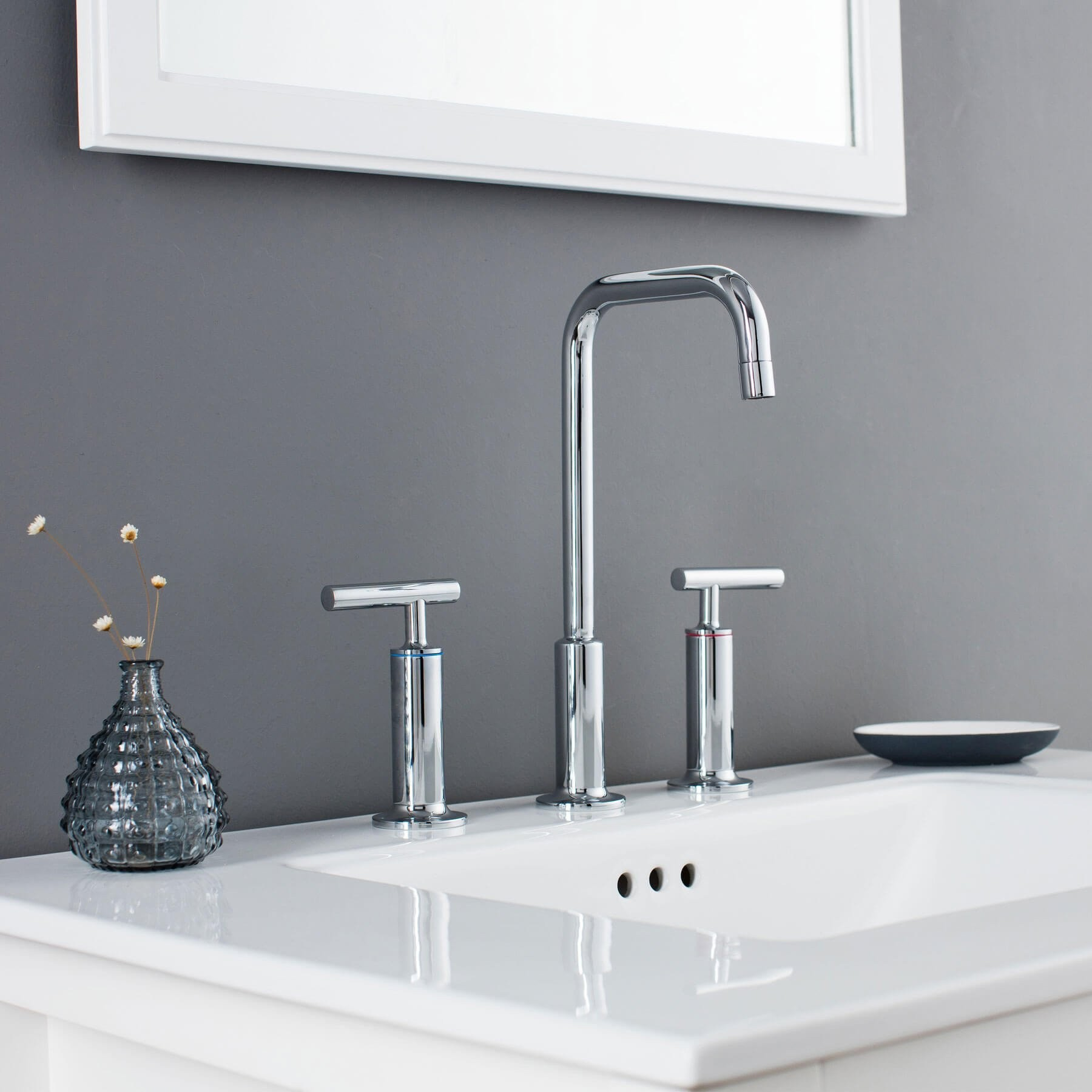 Prelude Brass Bathroom Sink Faucet Inch Widespread Hole - Bathroom sink faucets on sale