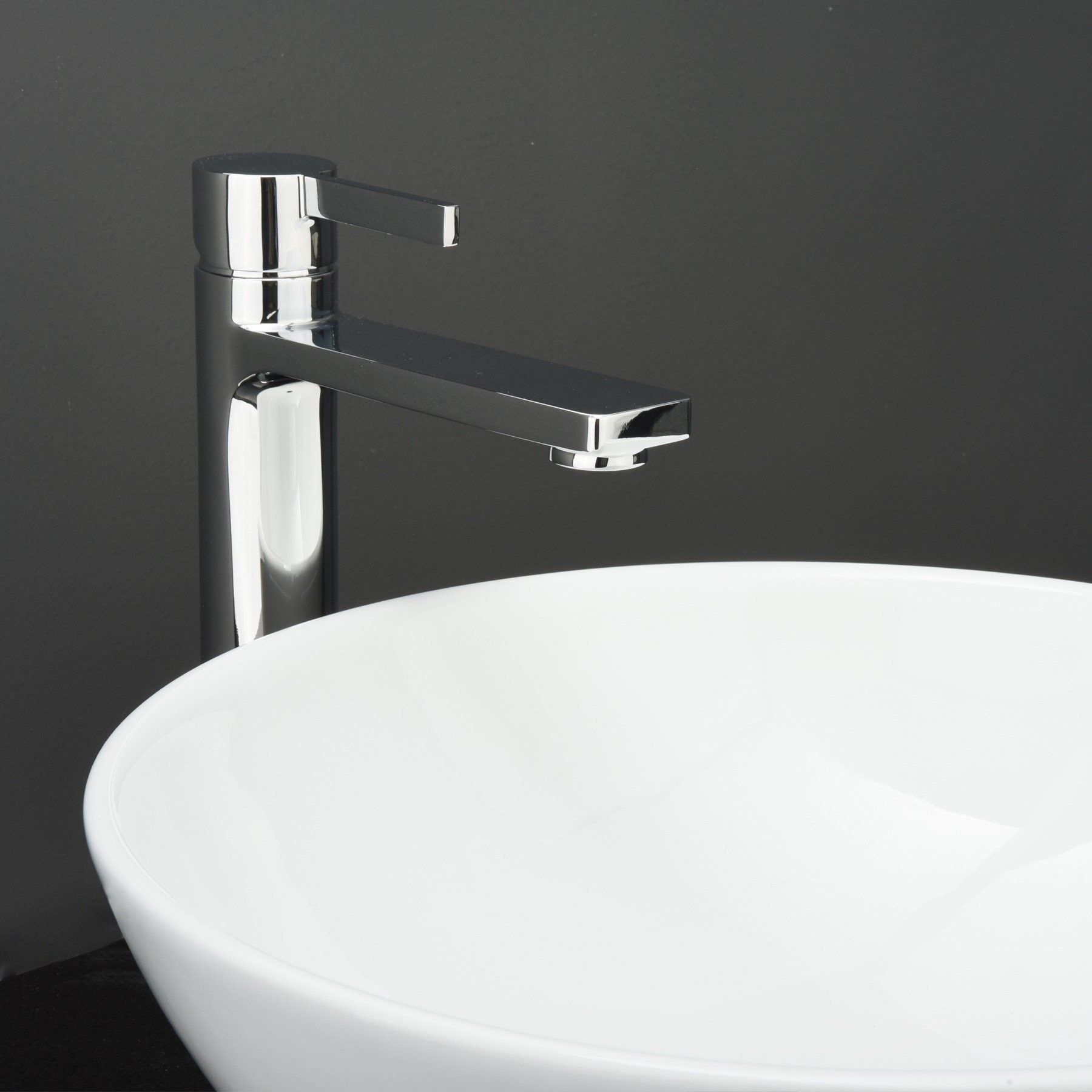Friedrich Brass Bathroom Vessel Sink Faucet, Single Hole, Single ...