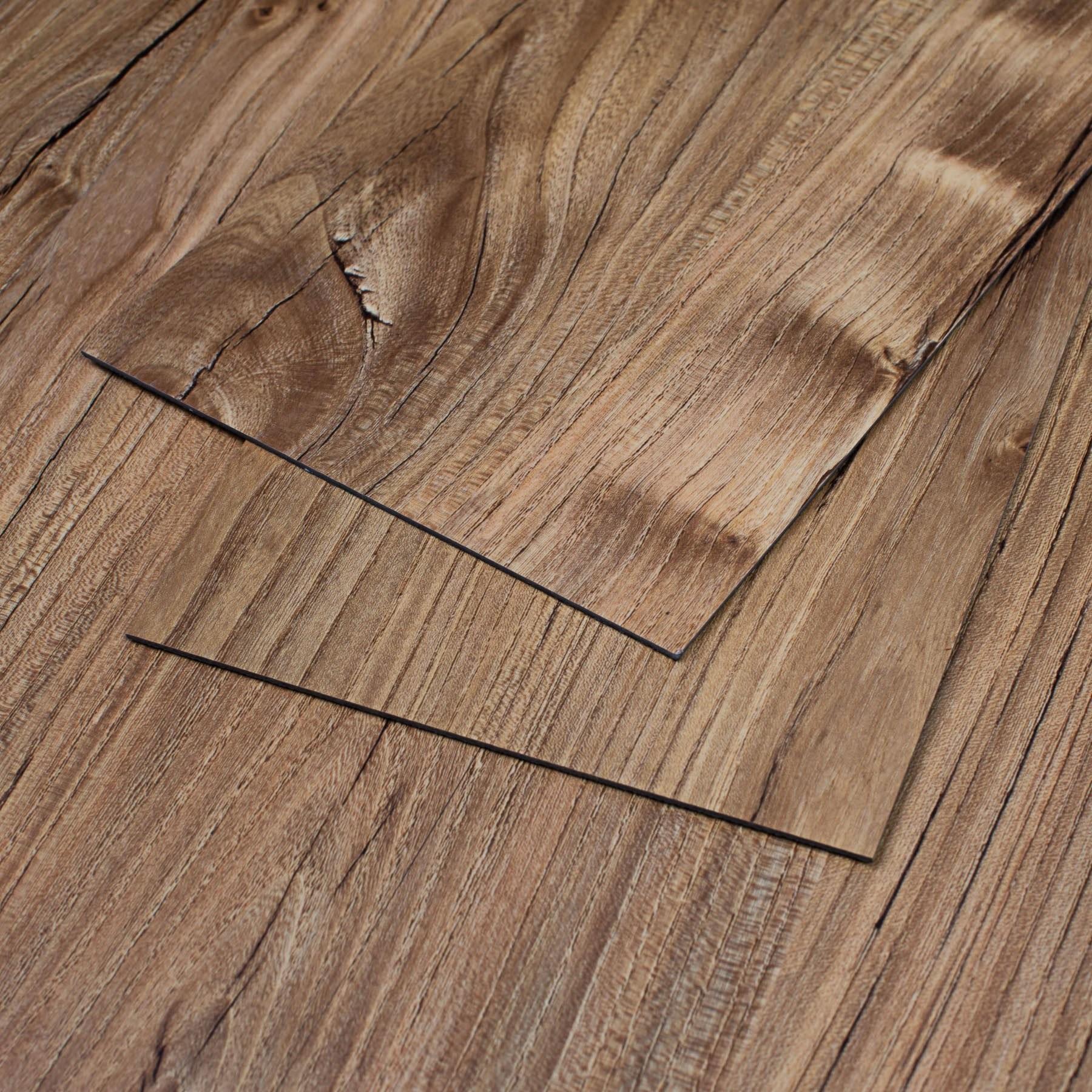 47 Sq Ft Red Pine Vinyl Plank Flooring