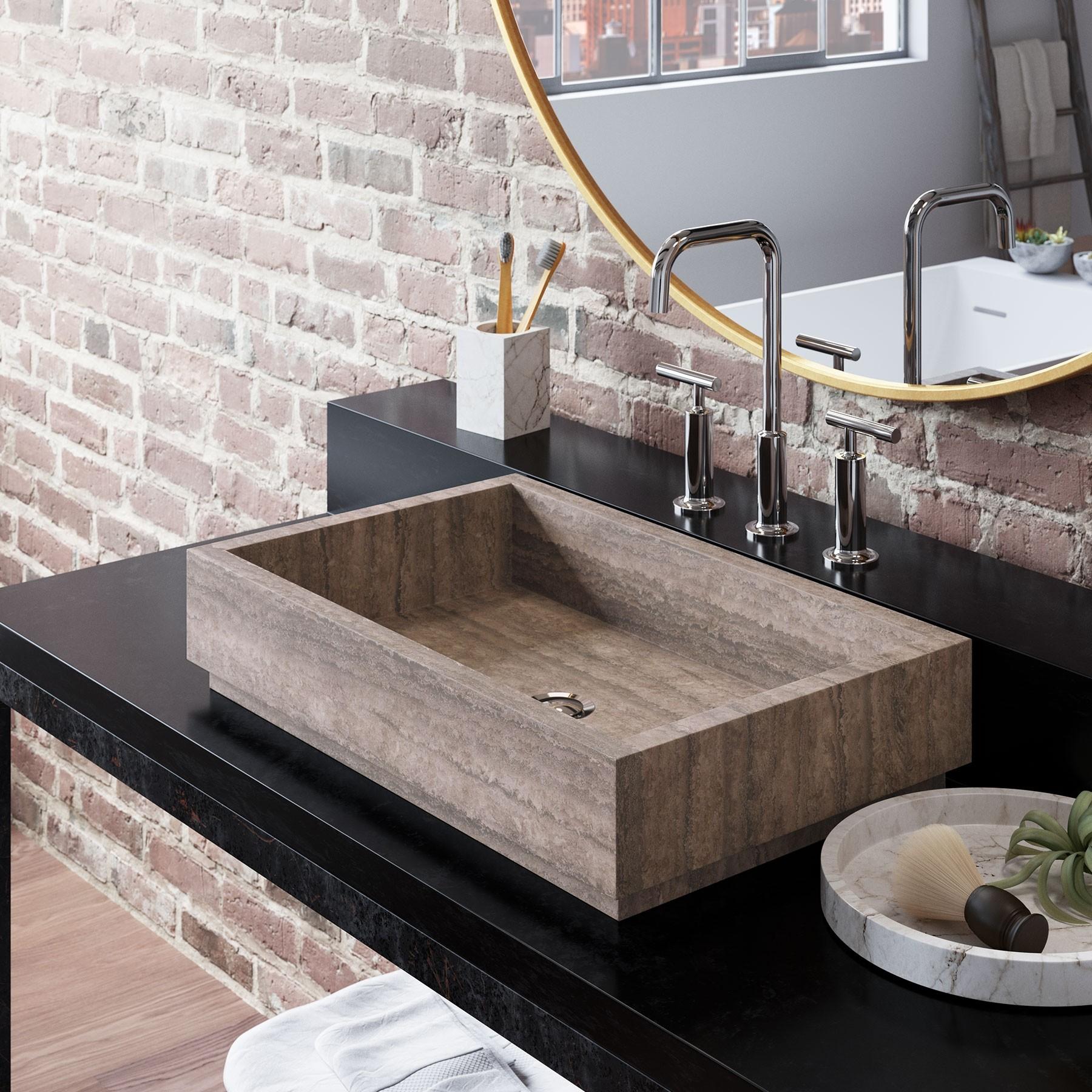 Lehi Marble Bathroom Vessel Sink