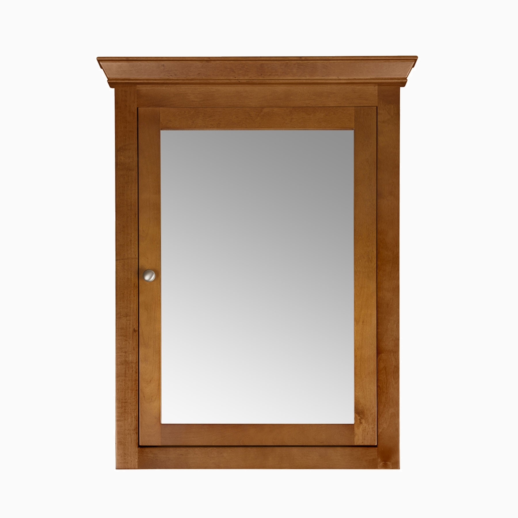Maria 27 W X 35 H Wood Framed Medicine Cabinet With Mirror And Shelf Natural Cherry