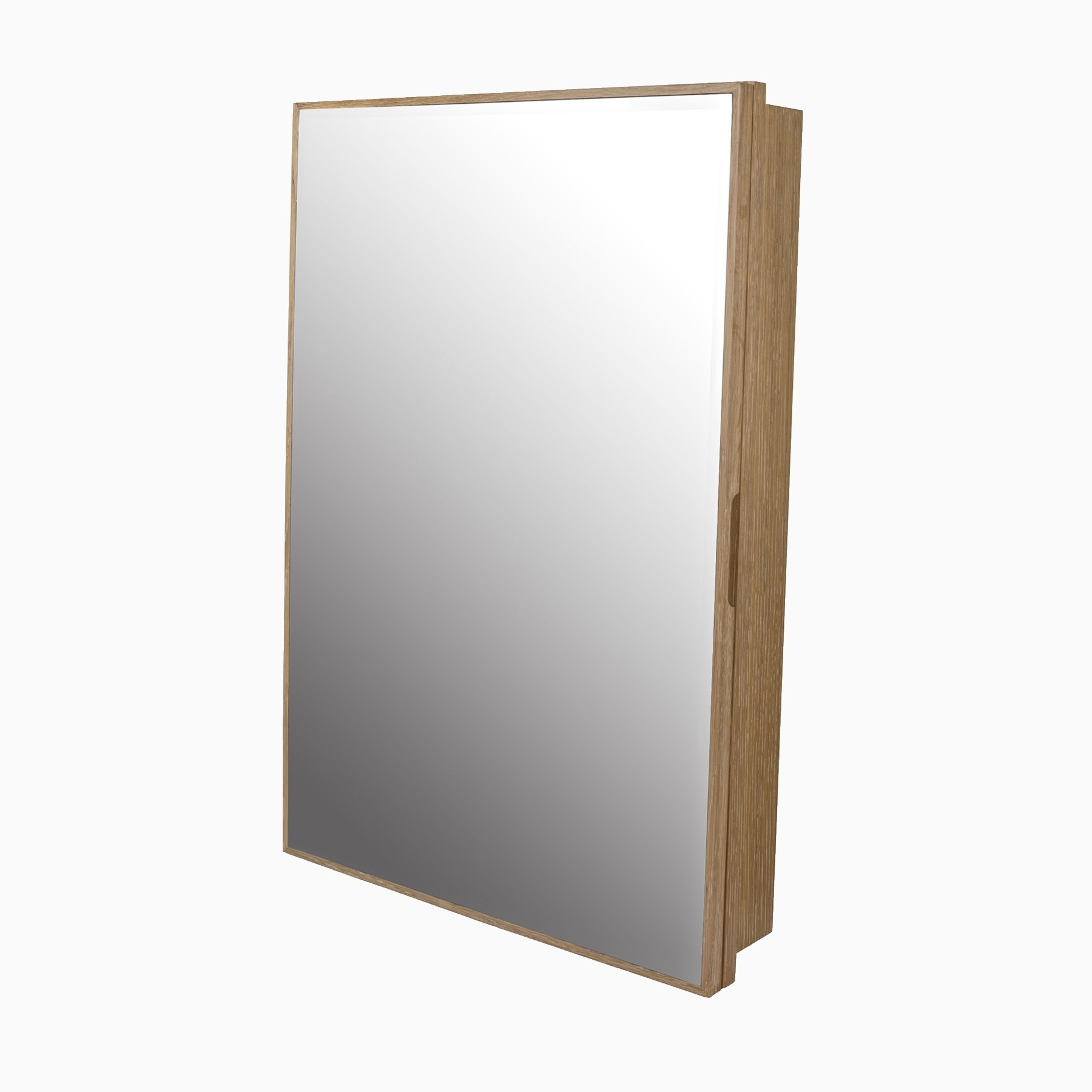 Peter 23 W X 33 H Wood Framed Medicine Cabinet With Beveled Mirror And Shelf Weathered Natural
