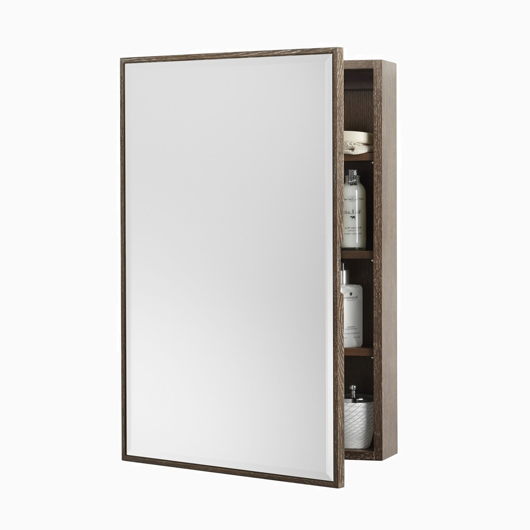 Peter 23 W X 33 H Wood Framed Medicine Cabinet With Beveled Mirror