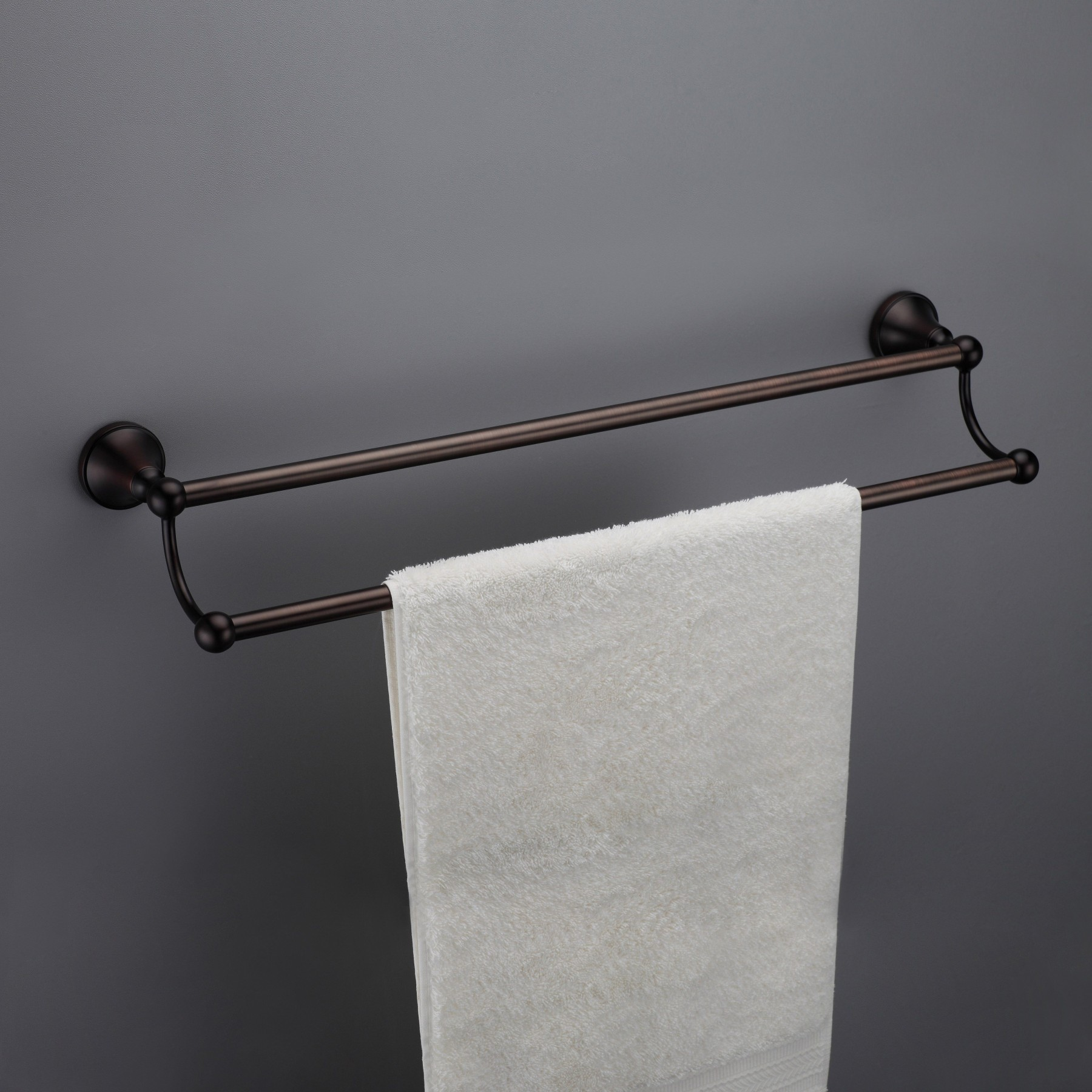 Powell Brass Wall Mounted Double Towel Bar