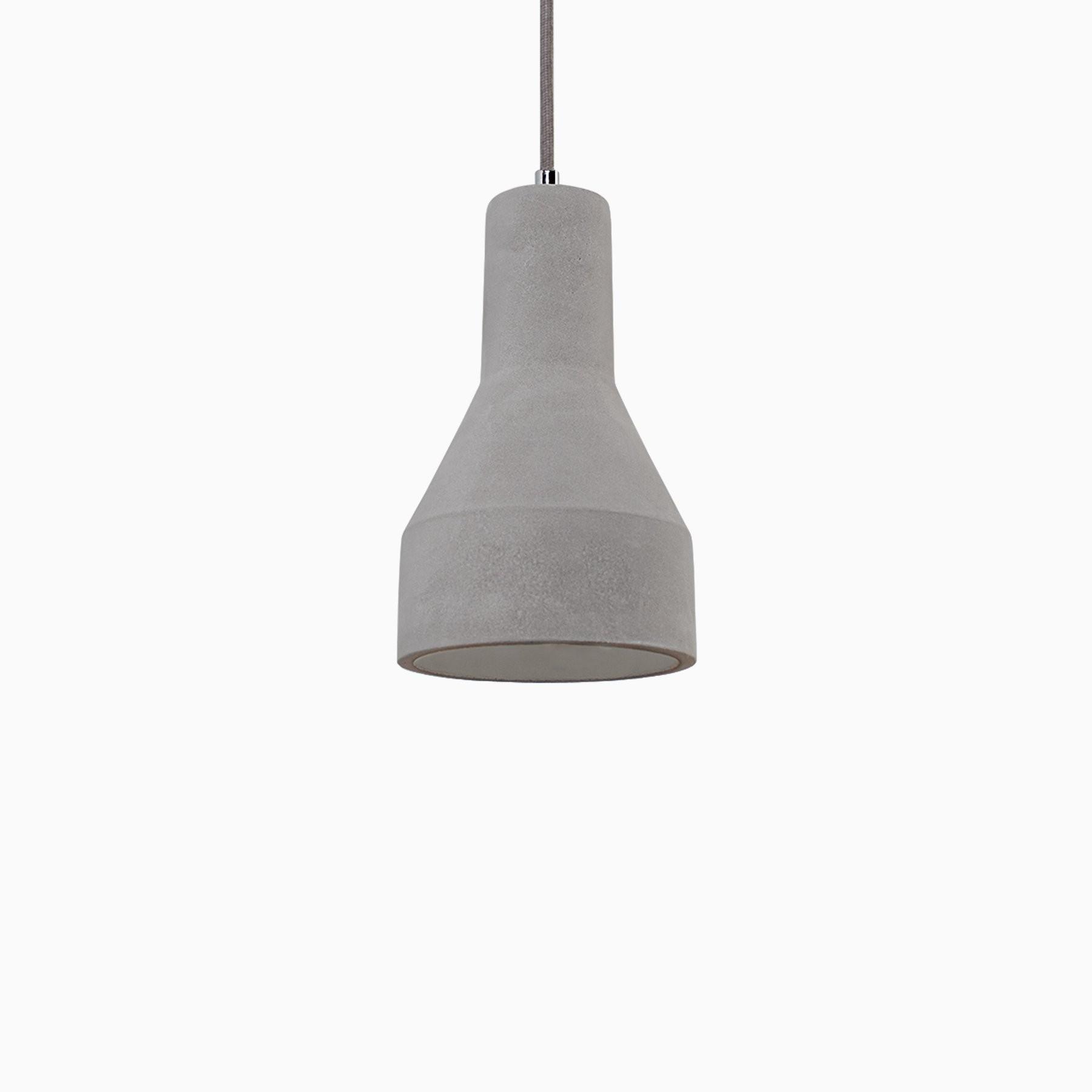 Superbe Amelia Concrete Pendant Light With Gray Cord