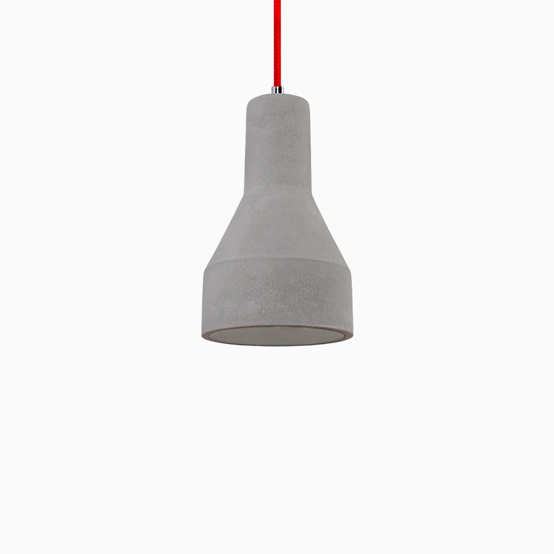 promo code a4634 3ccbf Amelia Concrete Pendant Light with Red Cord