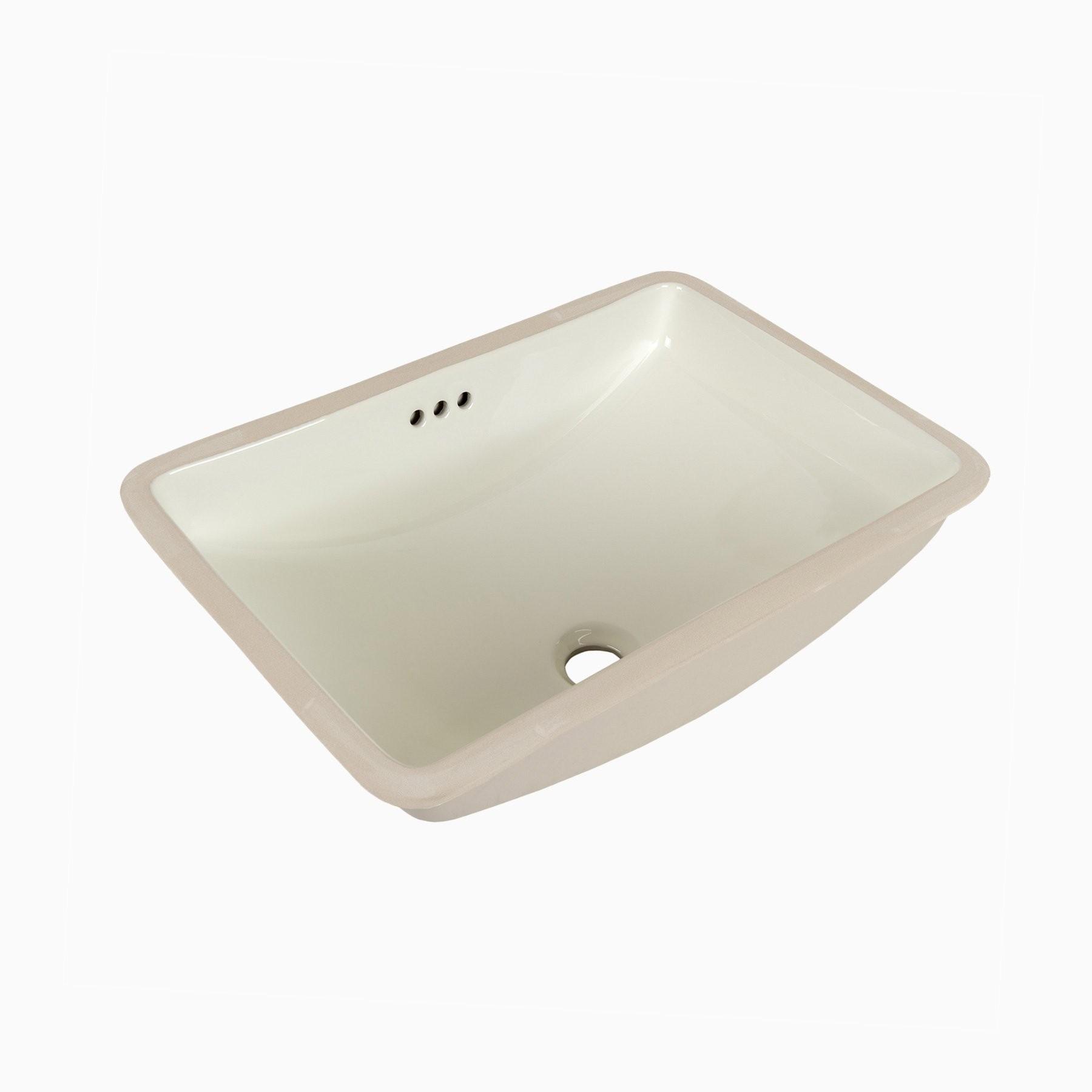 Bristol Biscuit Ceramic Single Sink Undermount Bathroom Sink, No ...
