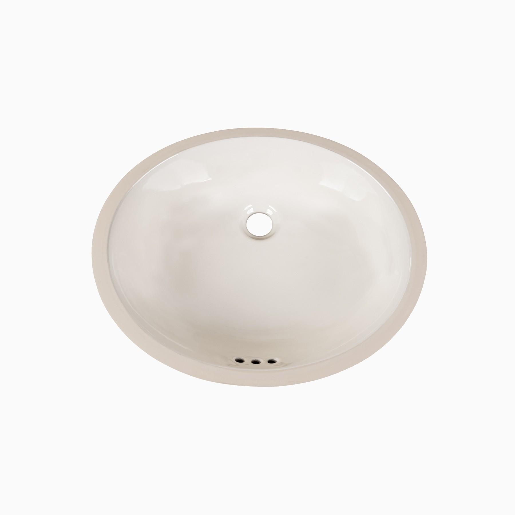 Landon Biscuit Ceramic Single Sink Undermount Bathroom Sink, No ...