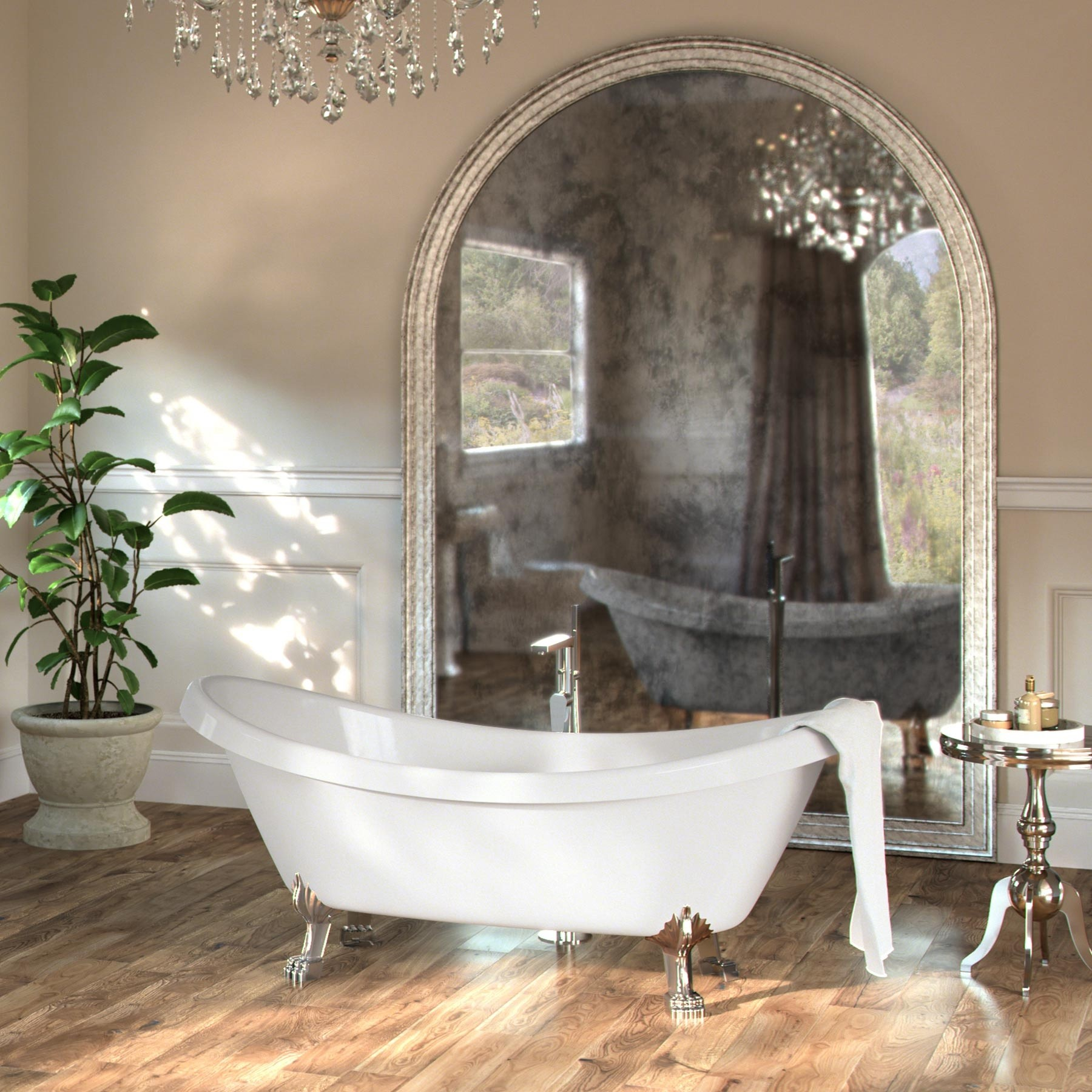 pin tub double and slipper iron aubretia cast tubs